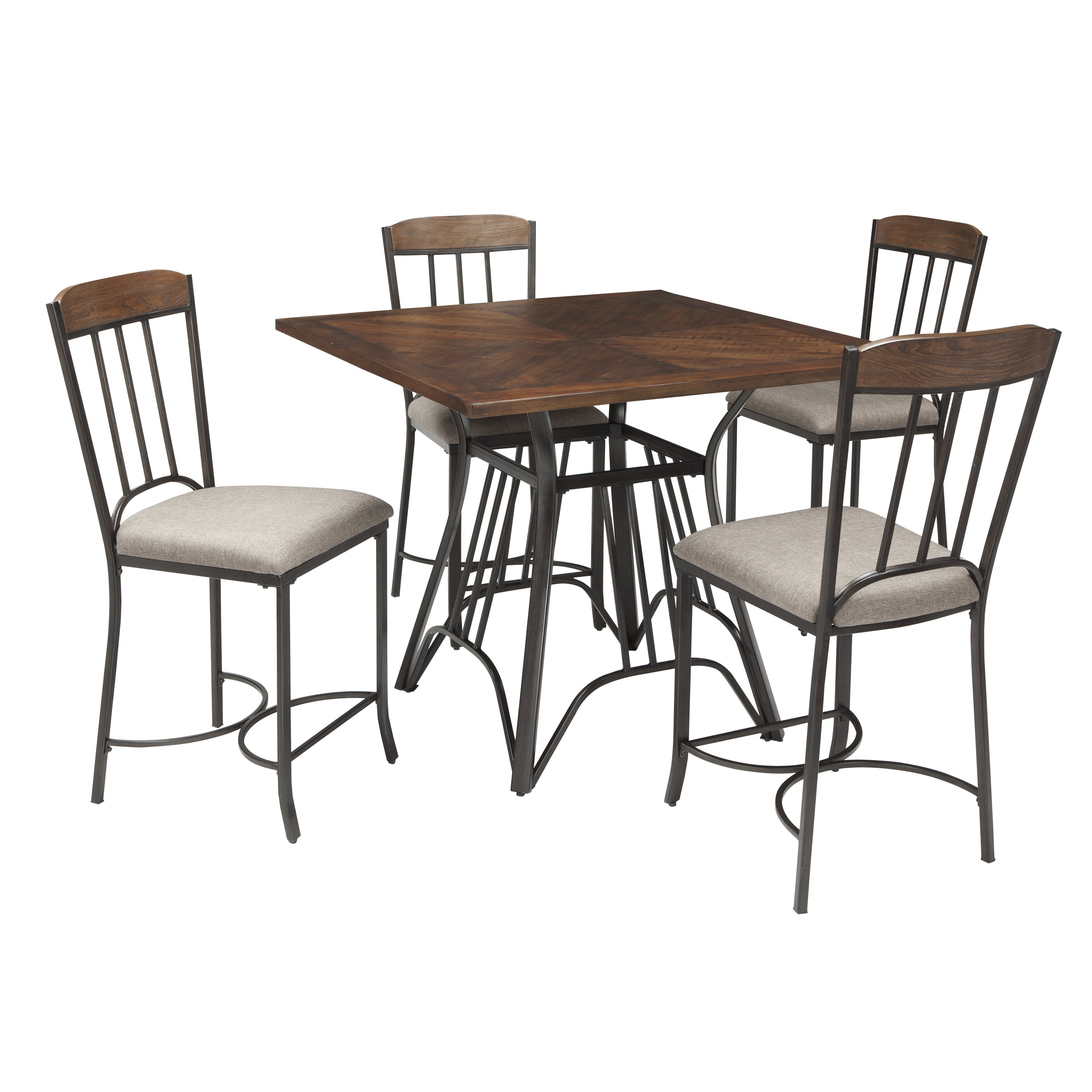 Signature Design By Ashley Zanilly 5 Piece Pub Table Set Wayfair