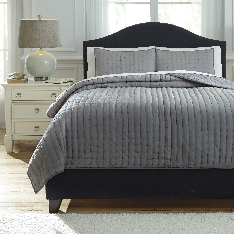 Signature Design By Ashley Teague 3 Piece Comforter Set