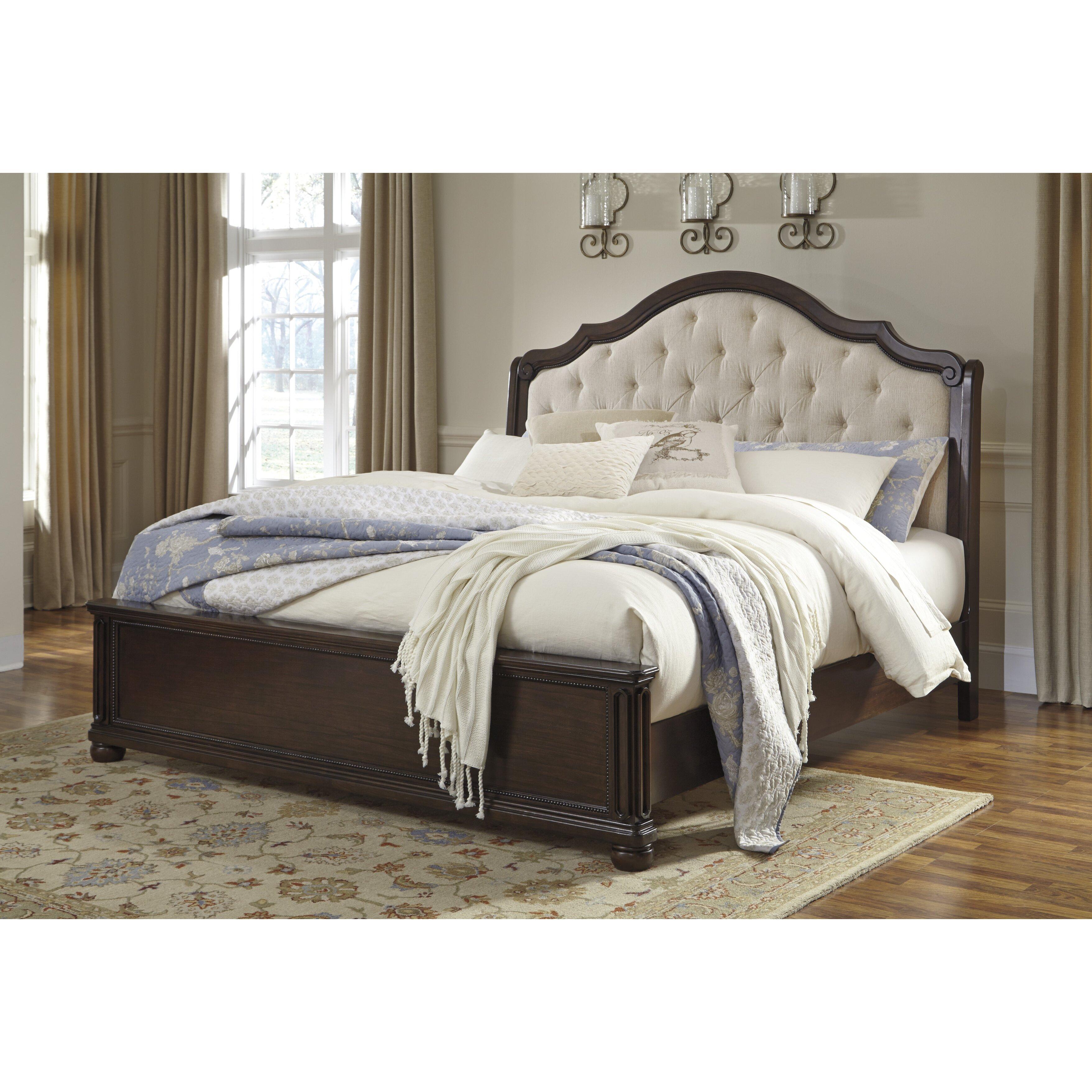 Signature design by ashley moluxy sleigh headboard - Ashley furniture sleigh bedroom set ...