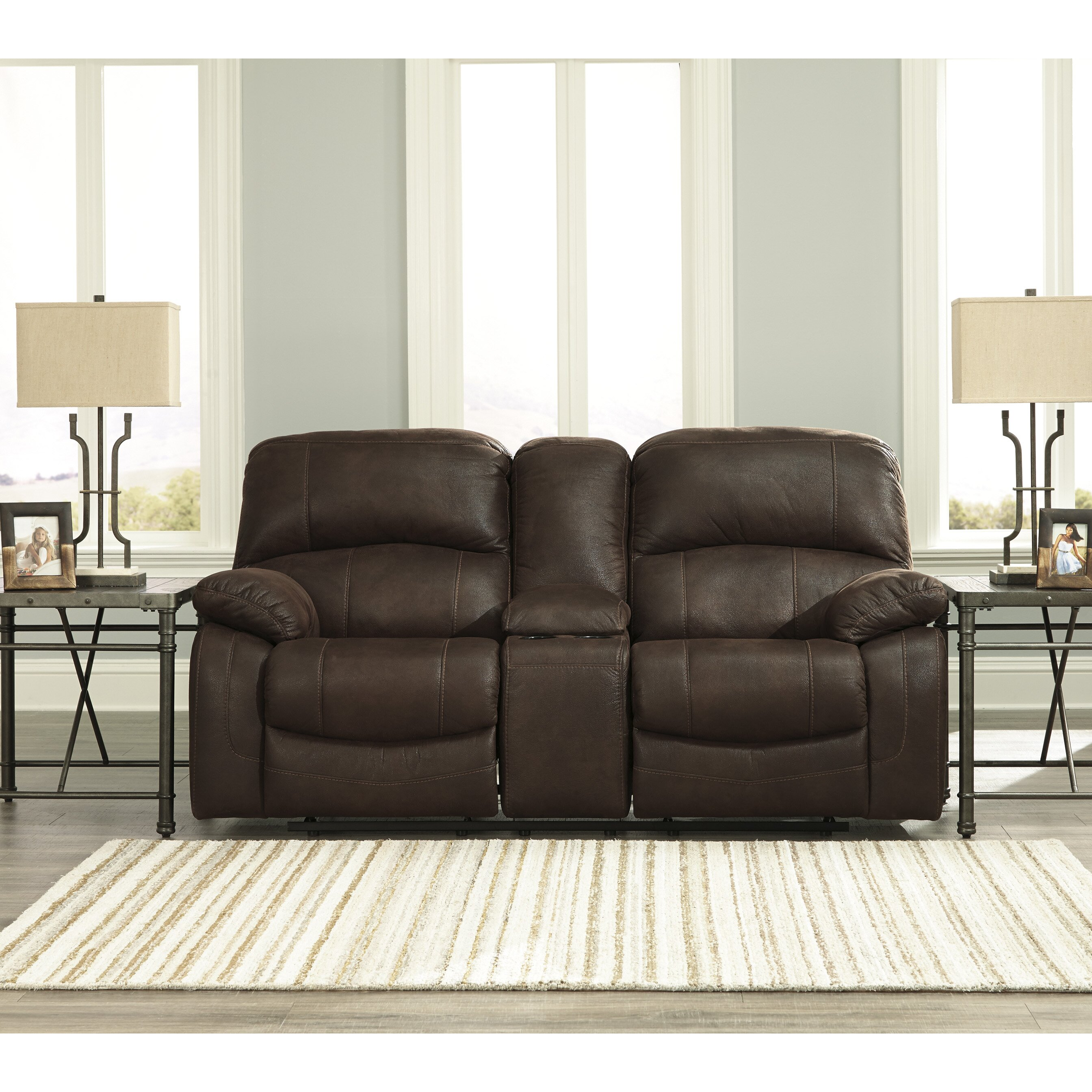 Signature Design By Ashley Zavier Truffle Glider Reclining