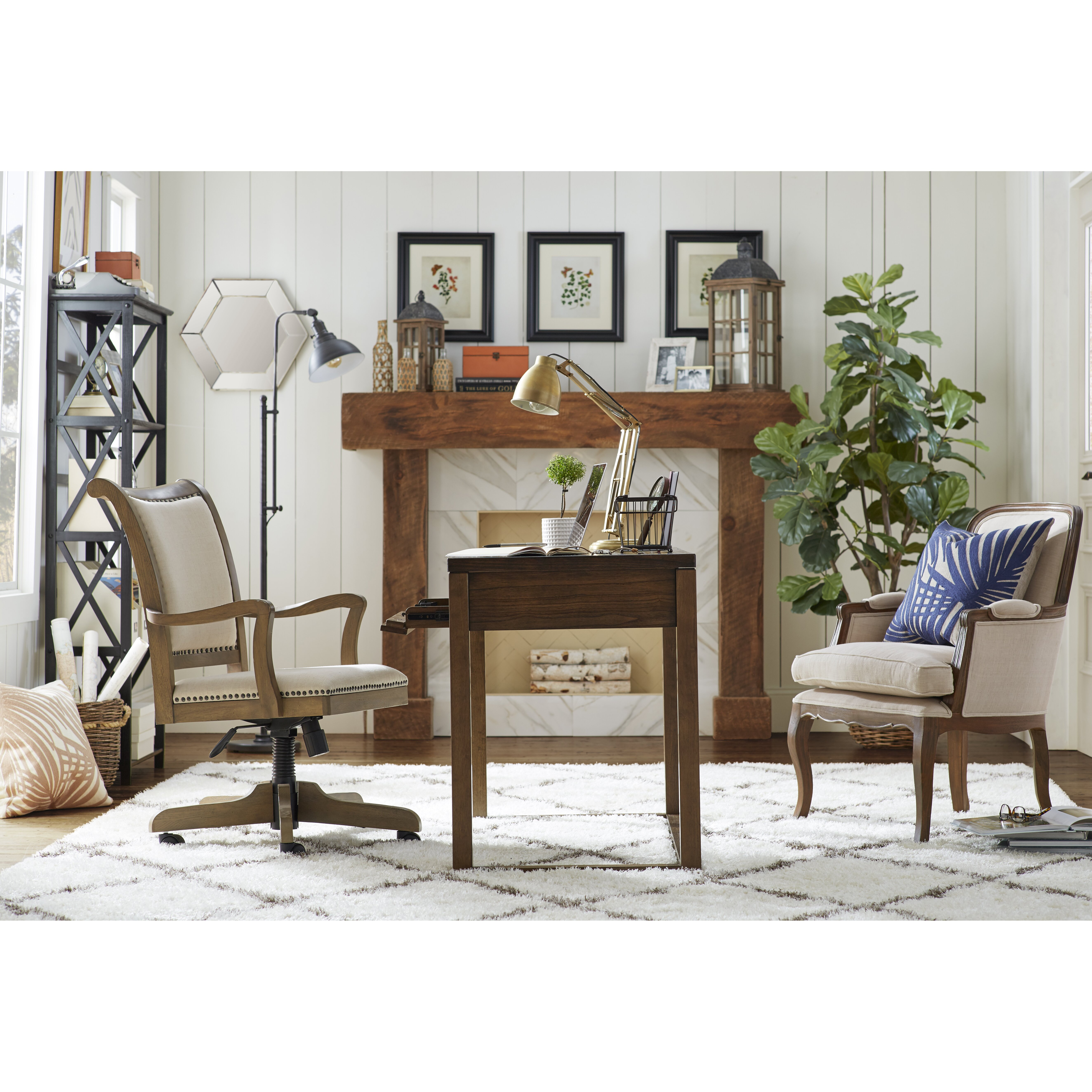 signature design by ashley baybrin writing desk reviews wayfair baybrin rustic brown home office small