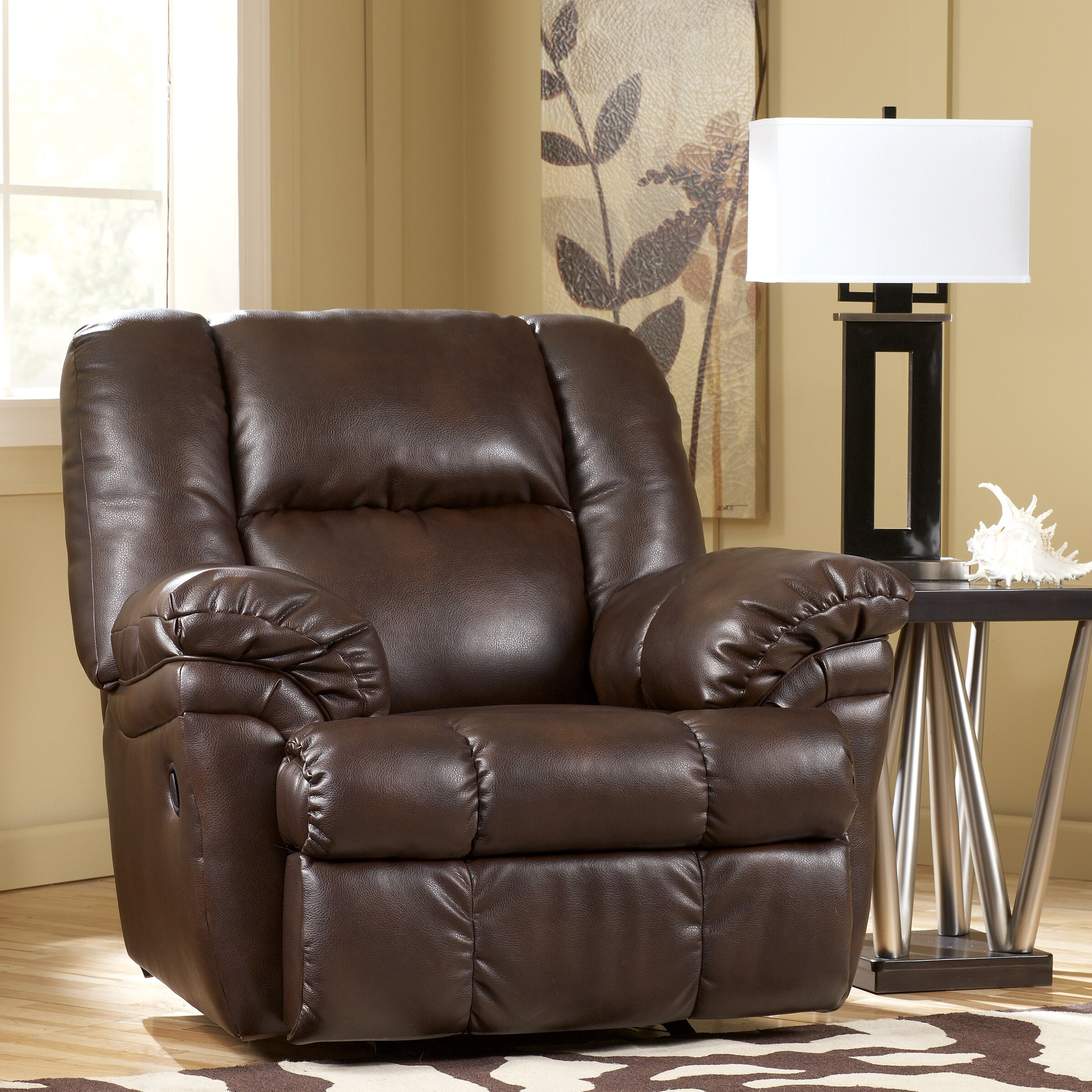 Signature design by ashley holt chaise recliner wayfair for Ashley chaise recliner
