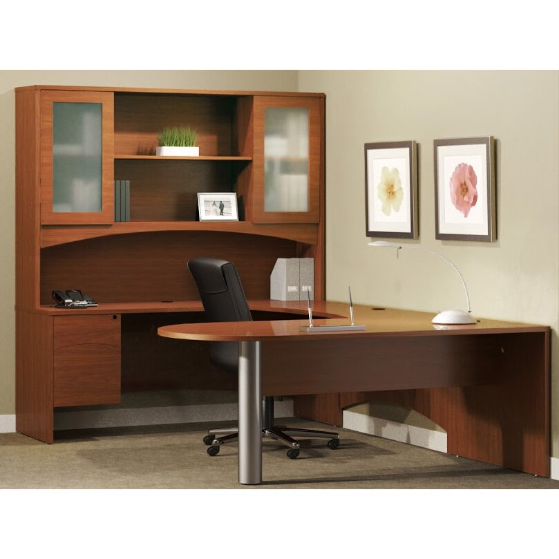 Mayline Brighton Series 5 Piece U Shape Standard Desk