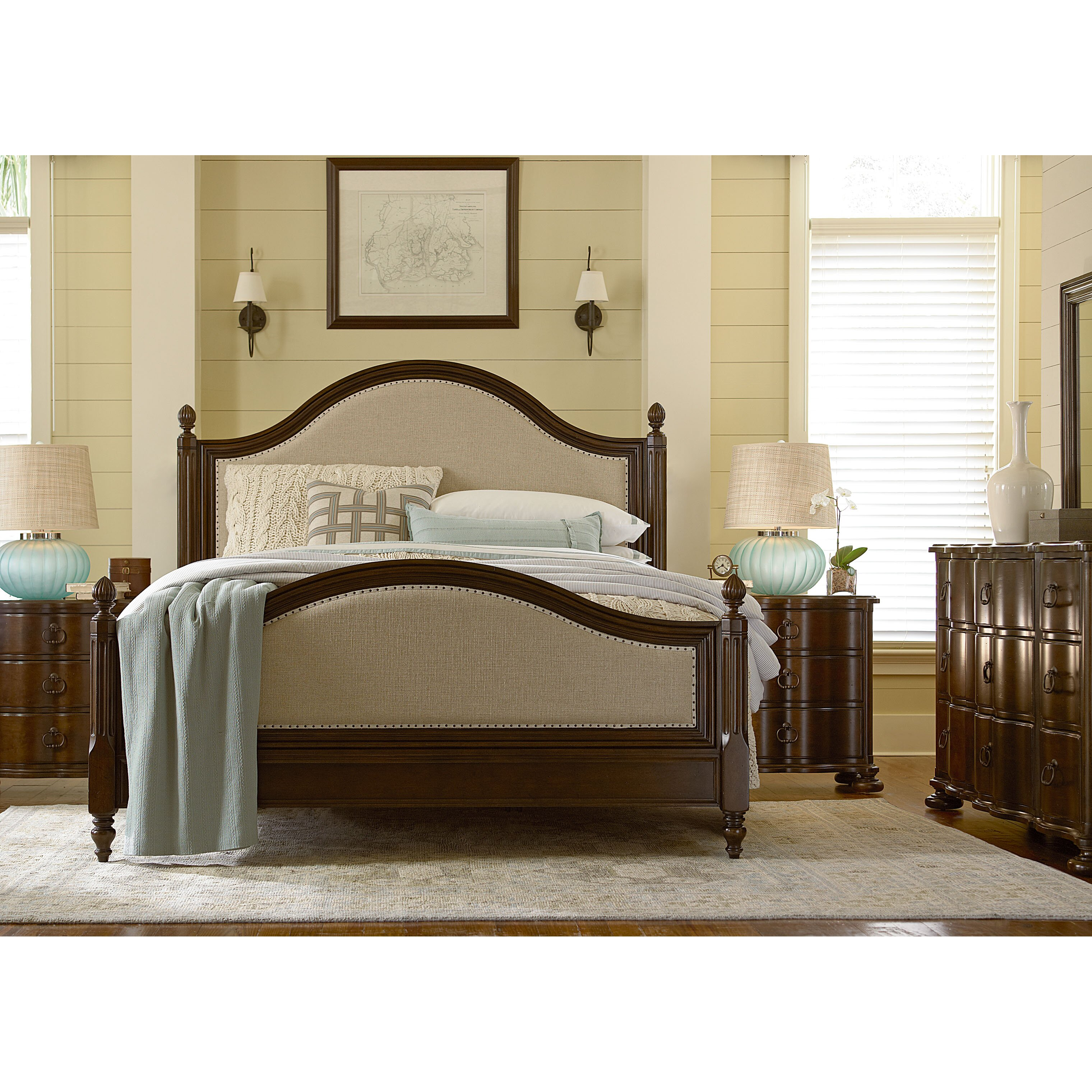 Paula deen river house panel customizable bedroom set for Paula deen bedroom furniture