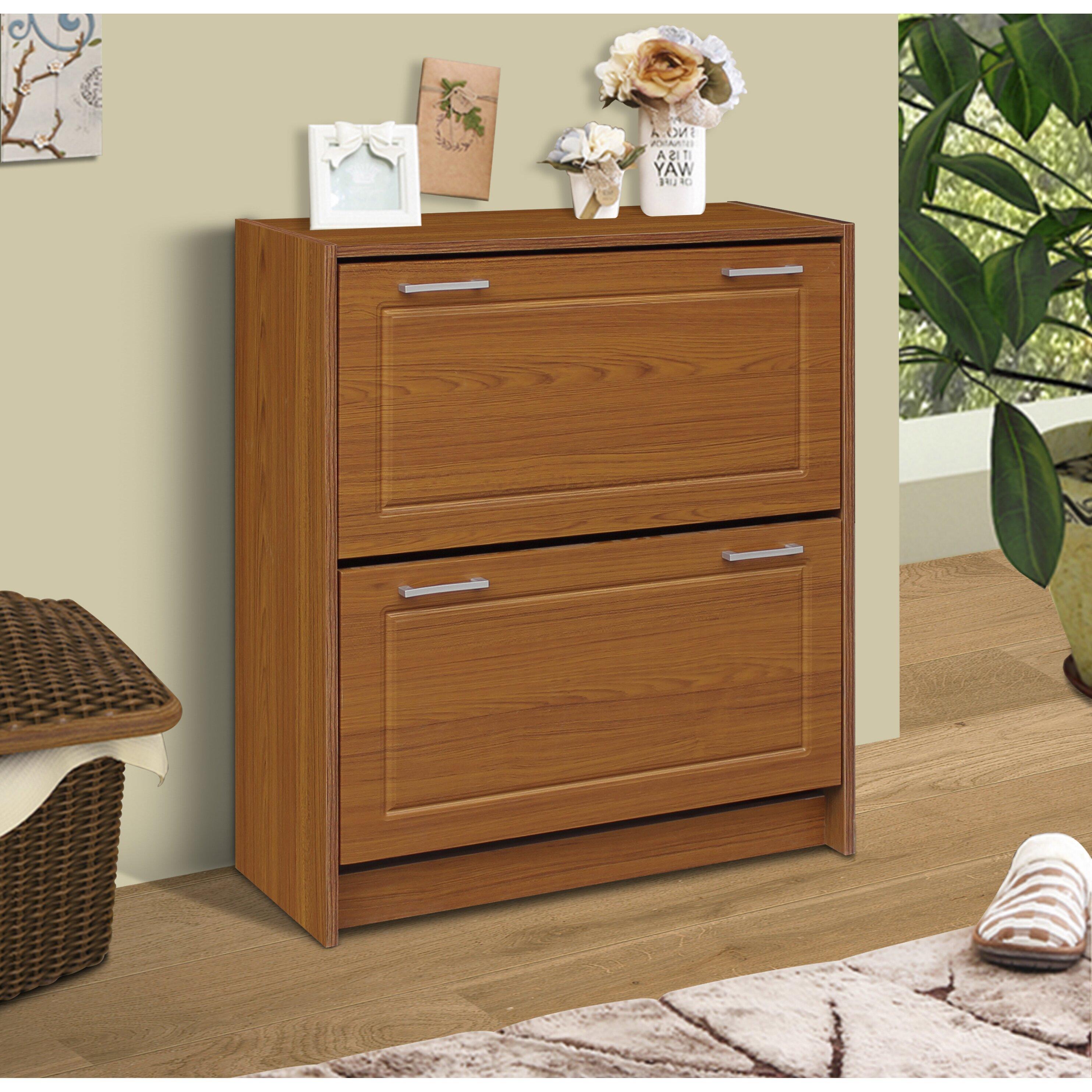 4d concepts double 24 pair shoe storage cabinet reviews wayfair - Shoe cabinet for small spaces concept ...
