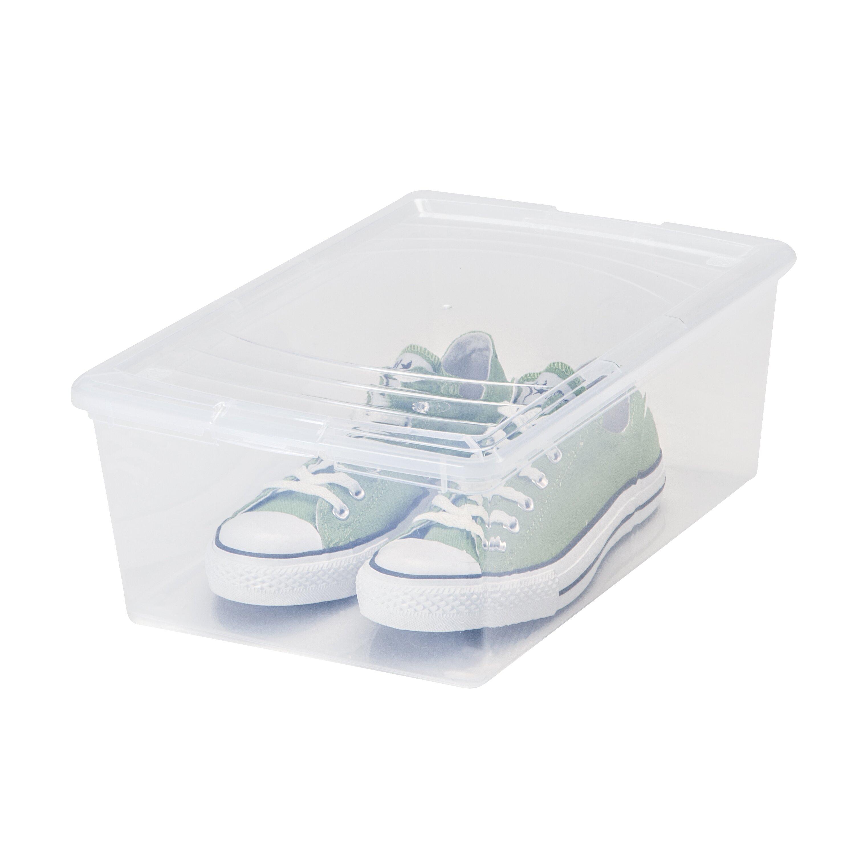 iris 13 5 quart mens shoe storage box reviews wayfair