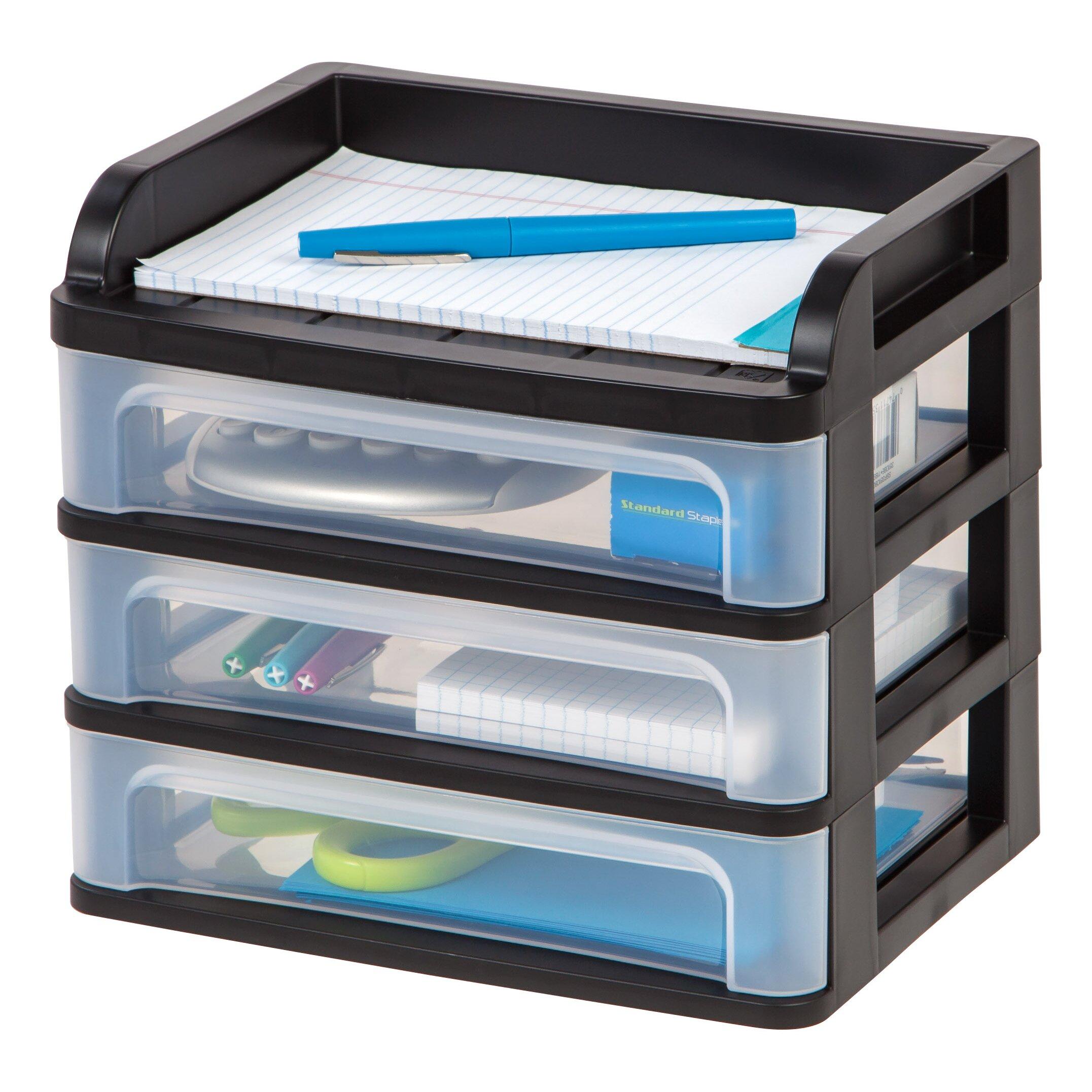 iris 3 drawer small desktop organizer reviews wayfair. Black Bedroom Furniture Sets. Home Design Ideas