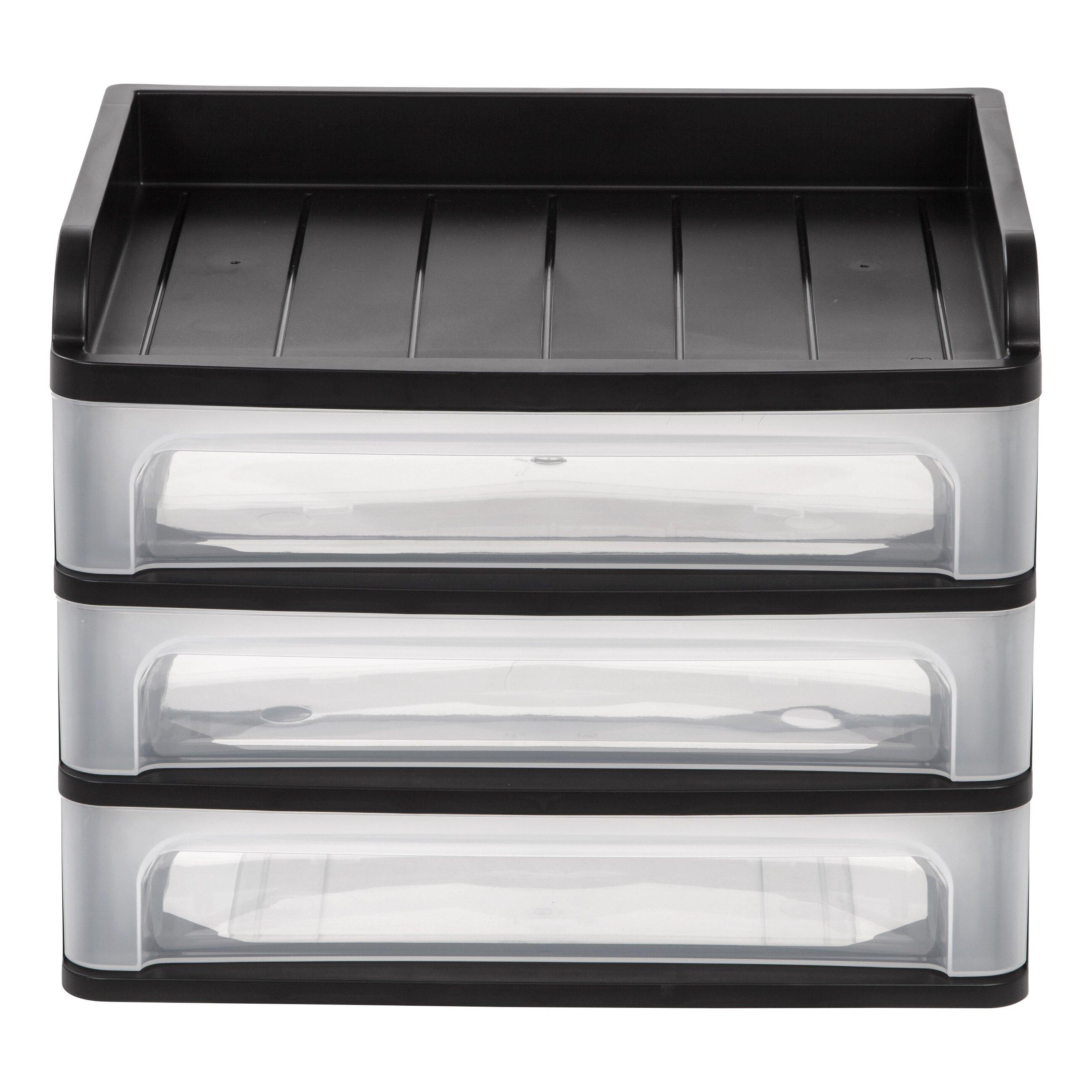 iris 3 drawer desktop organizer reviews wayfair supply. Black Bedroom Furniture Sets. Home Design Ideas