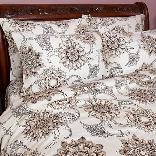 Sin in linen henna tattoo duvet cover collection reviews for Tattoo bedding queen