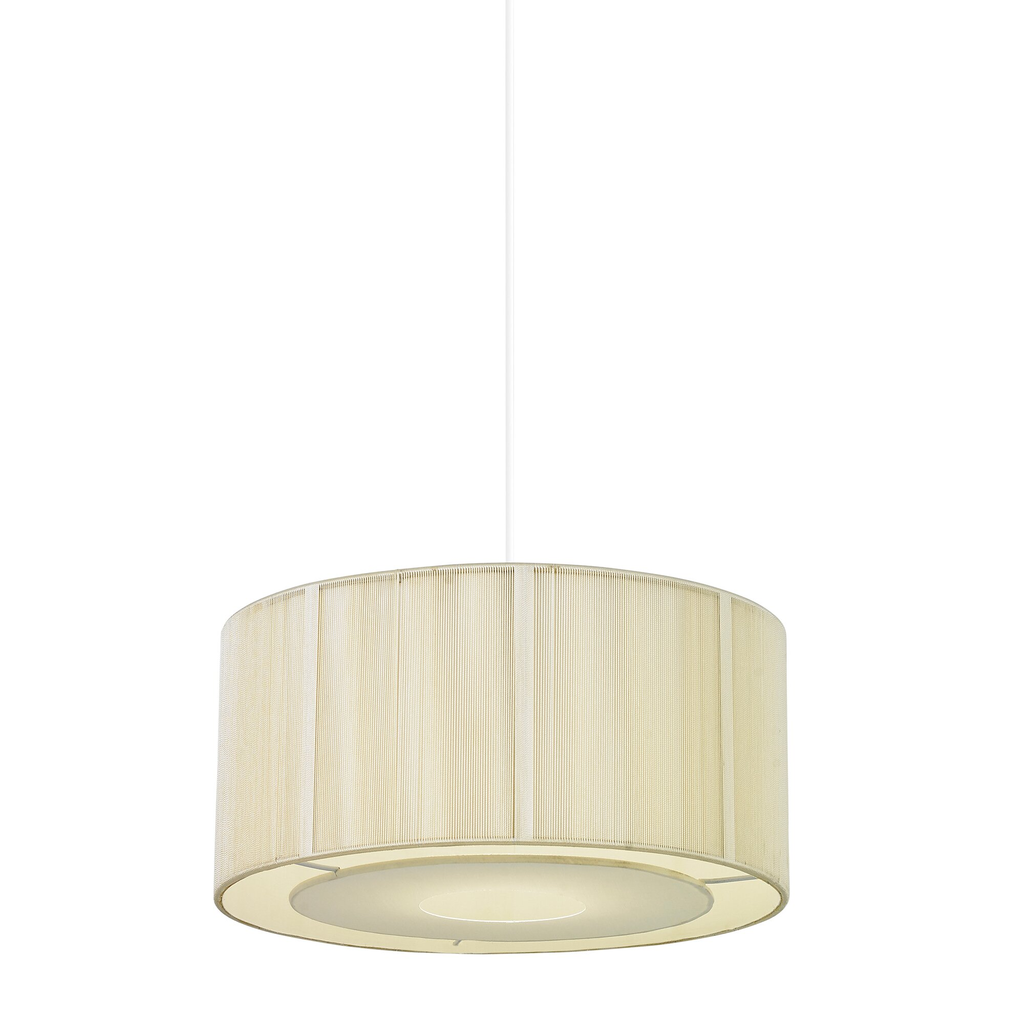 Endon Lighting Alex 1 Light Drum Pendant Amp Reviews