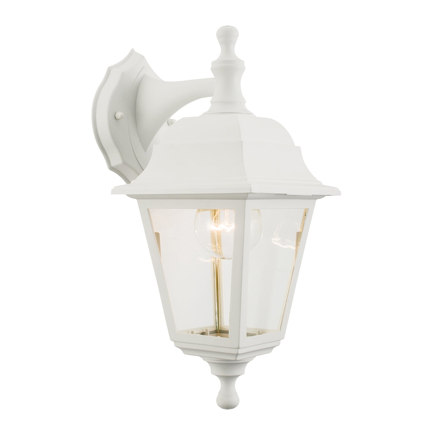 Pimlico Wall Lamp In Glass : Endon Lighting Pimlico 1 Light Outdoor Wall Lantern Wayfair UK