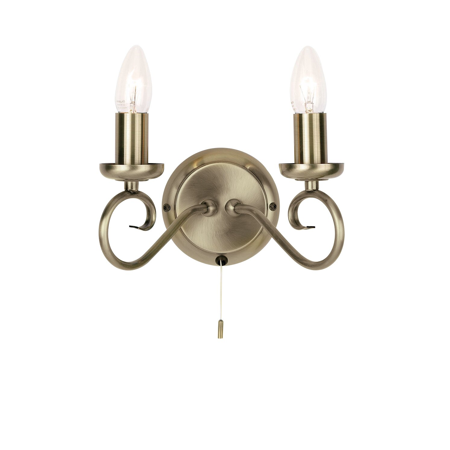 Wall Candle Light : Endon Lighting 2 Light Candle Wall Light & Reviews Wayfair UK