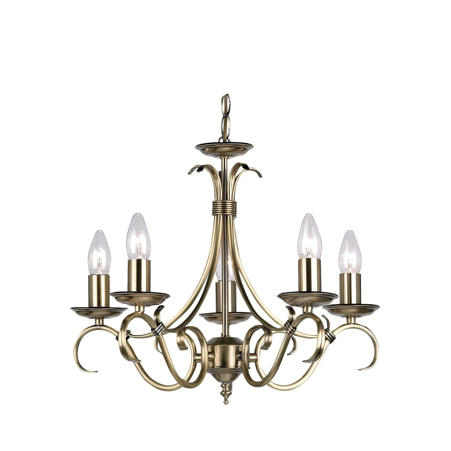 Endon Lighting 5 Light Grande Candle Chandelier Amp Reviews