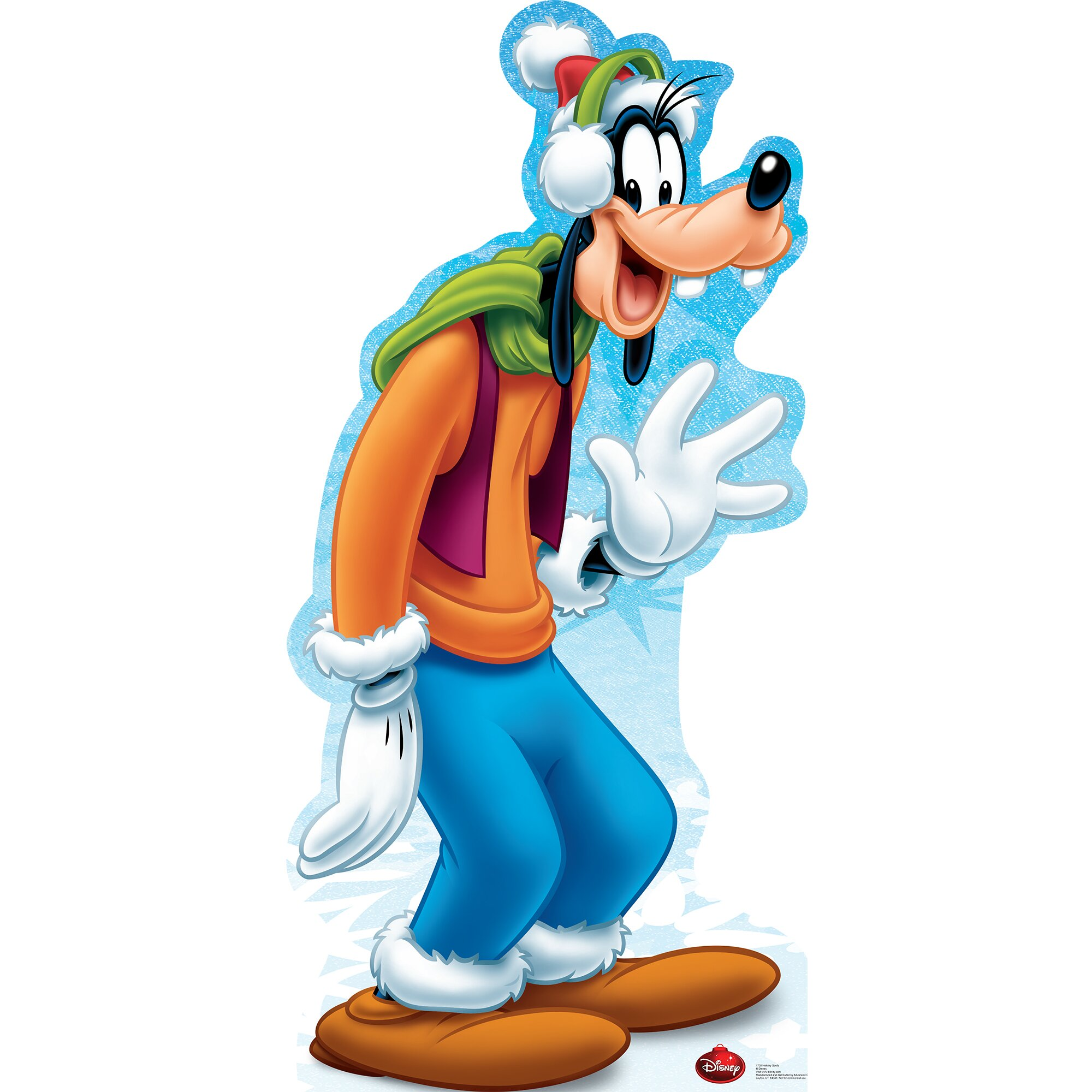 Advanced Graphics Goofy Holiday - Disney Cardboard Standup ...