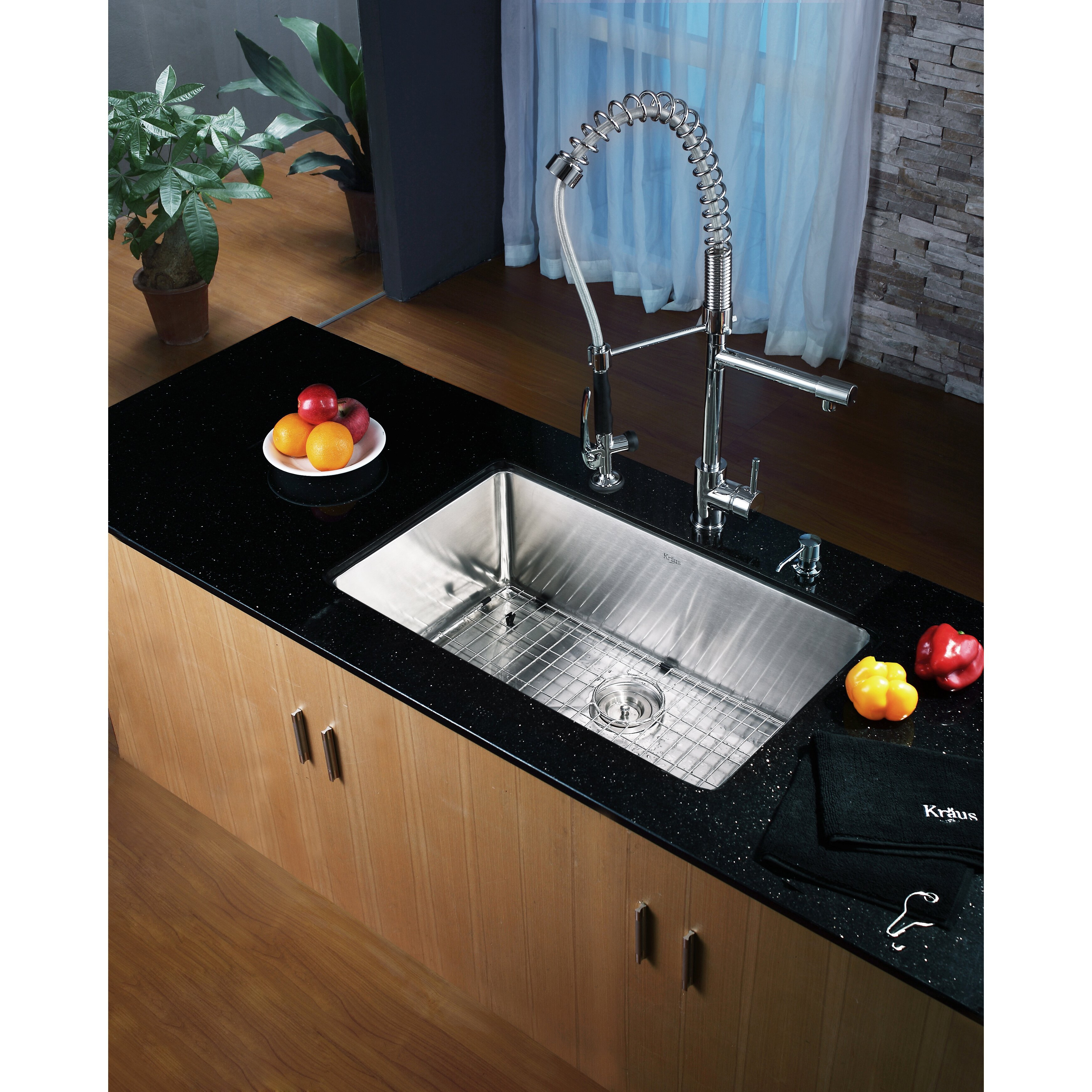 Kraus 30 X 16 Undermount Single Bowl Kitchen Sink With Faucet And Soap Dispenser Reviews