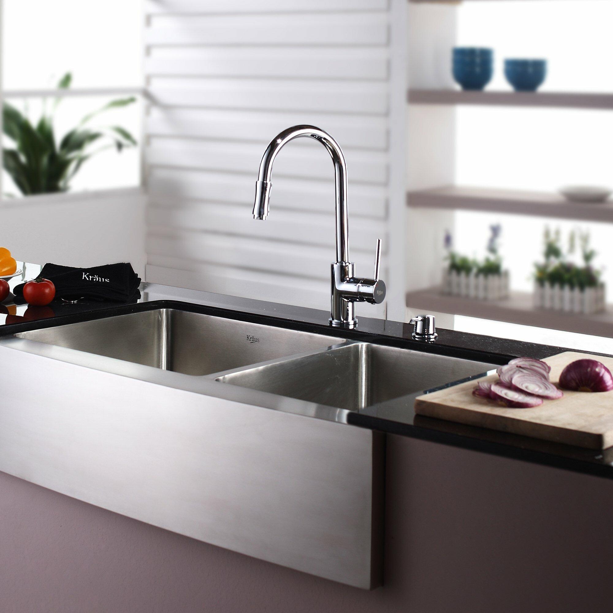 Farmhouse Double Bowl Kitchen Sink : 35.88