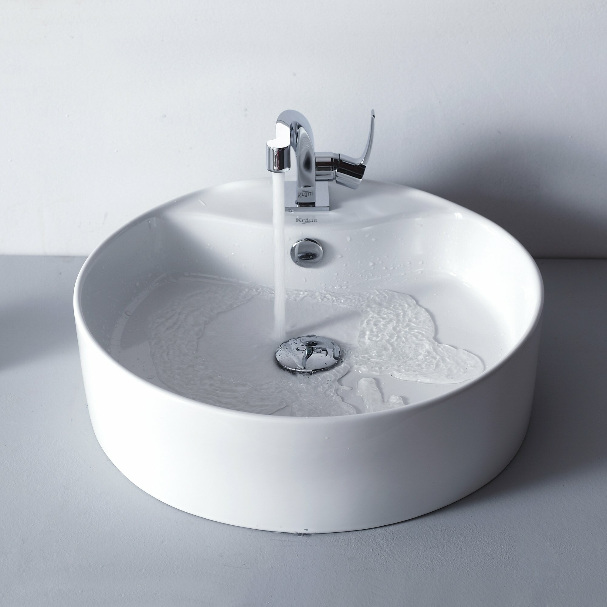 Kraus Typhon Single Handle Basin Bathroom Faucet With Pop Up Drain Reviews Wayfair