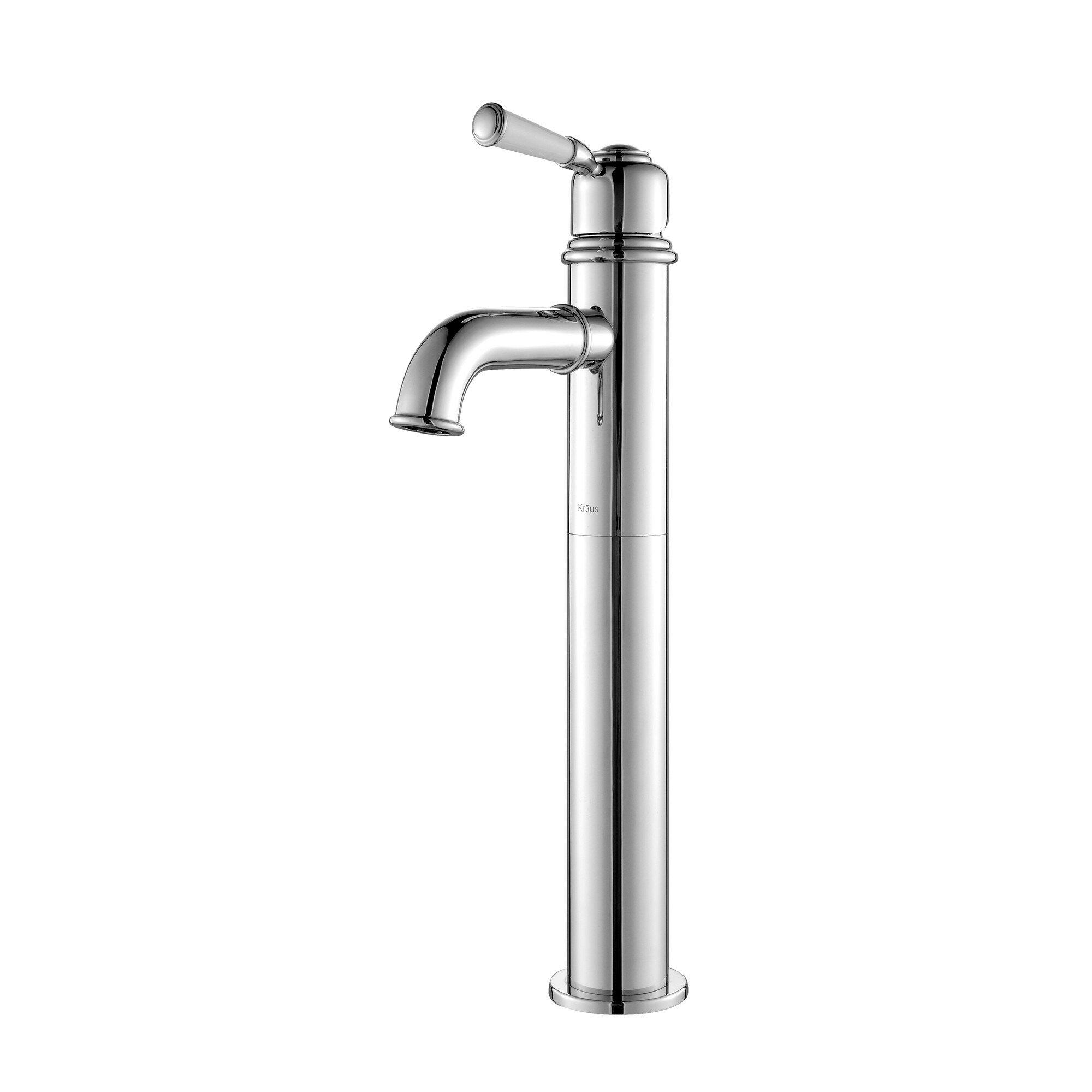 Kraus Faucets Reviews : Kraus Exquisite Solinder Single Handle Vessel Bathroom Faucet ...