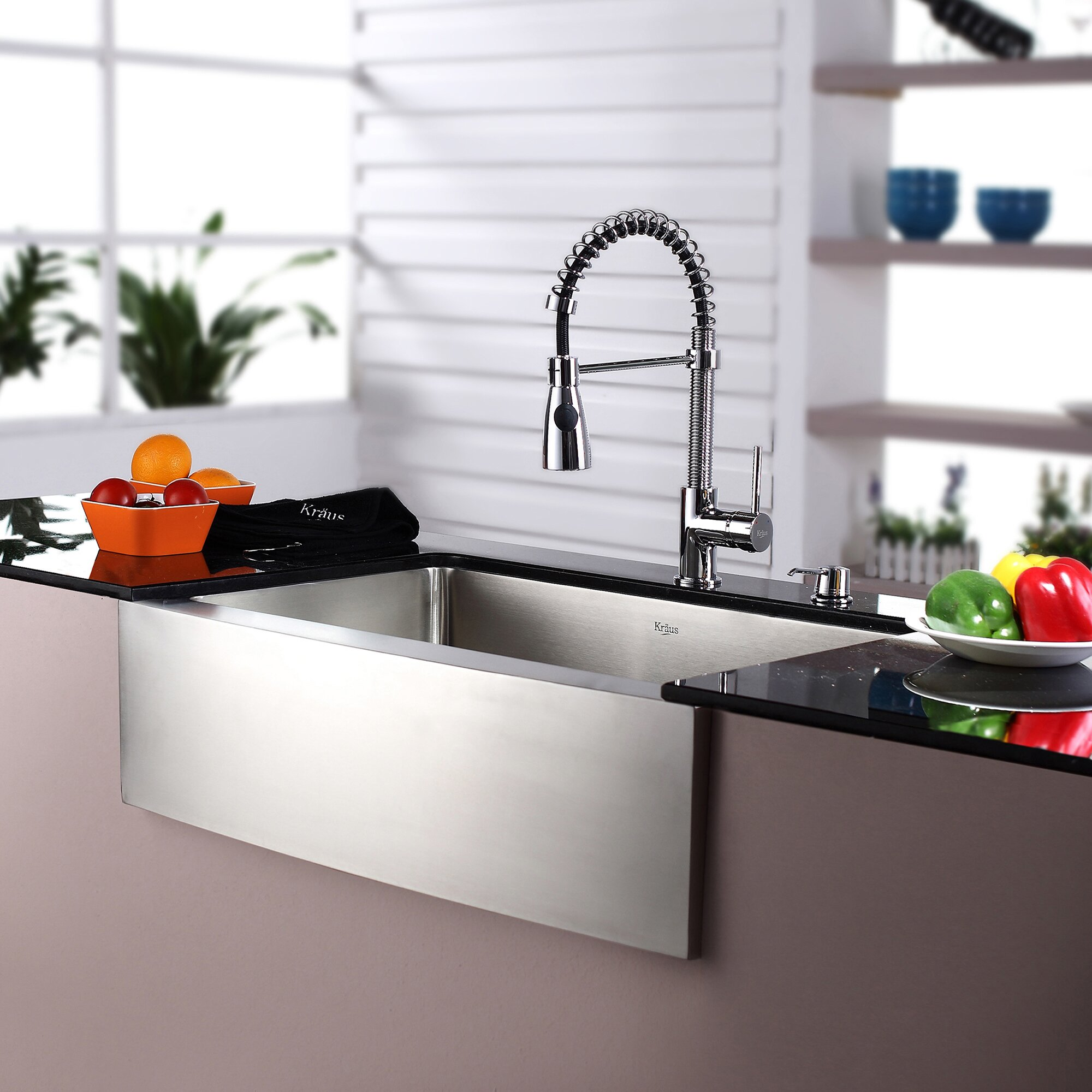 "Kitchen Sink Kraus: Kraus Kraus 30"" Farmhouse Stainless Steel 29.75"" X 20"