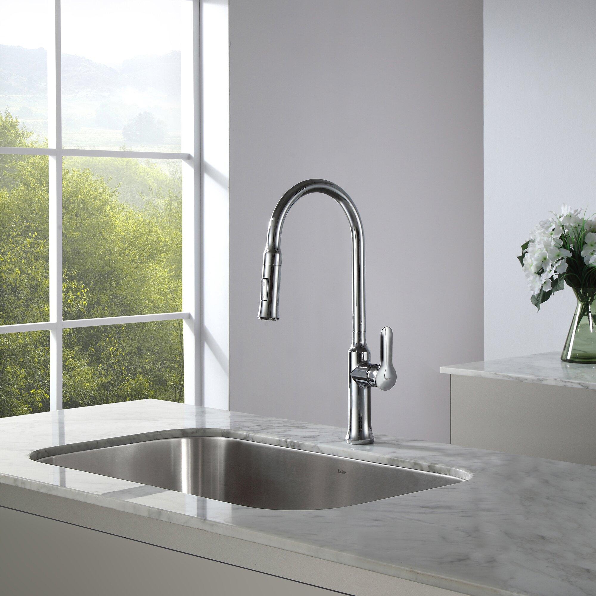 kraus nola single lever pull down kitchen faucet kraus kpf 1622sn pull down kitchen faucet review