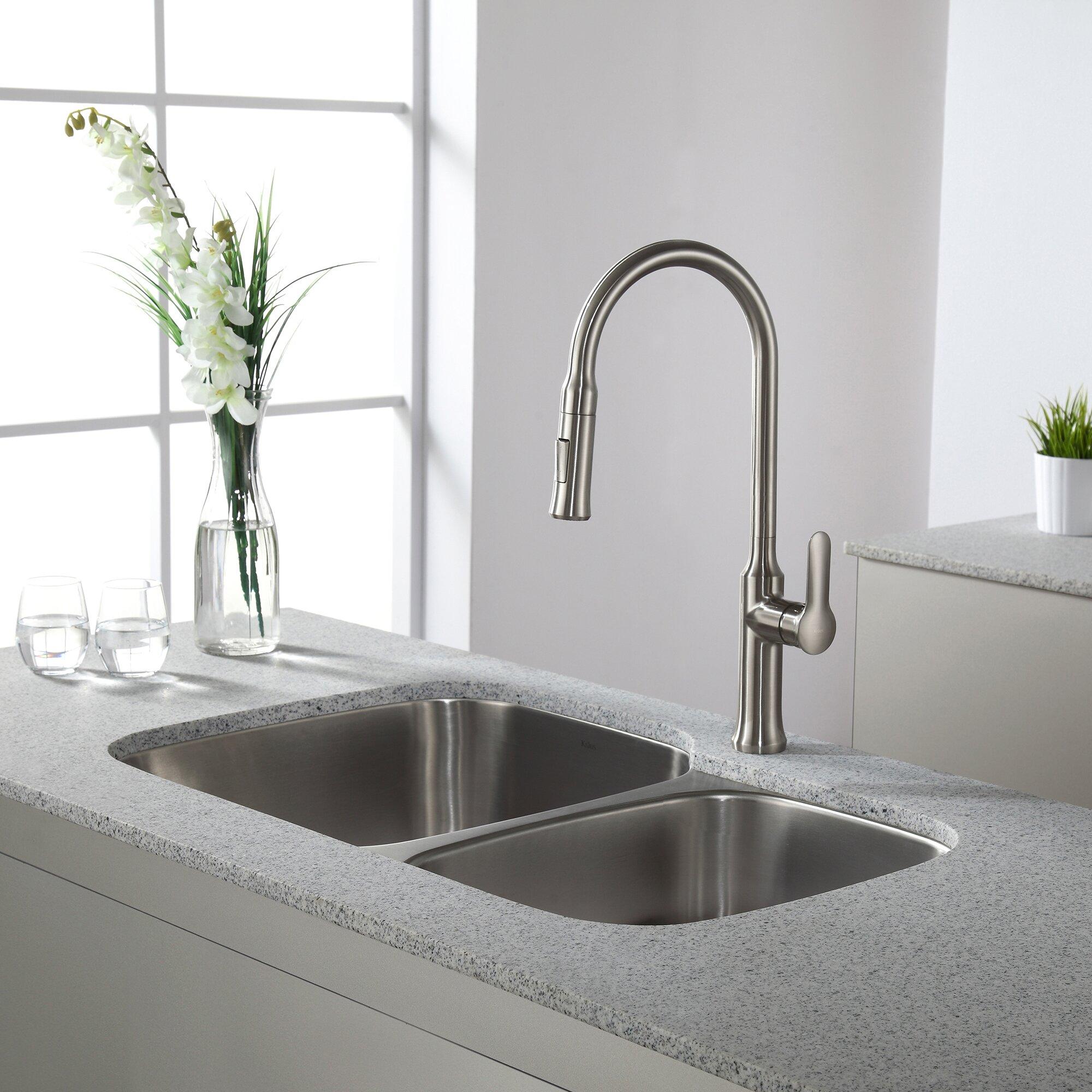 Kraus 32 X 20 5 Undermount Double Bowl 60 40 Kitchen Sink
