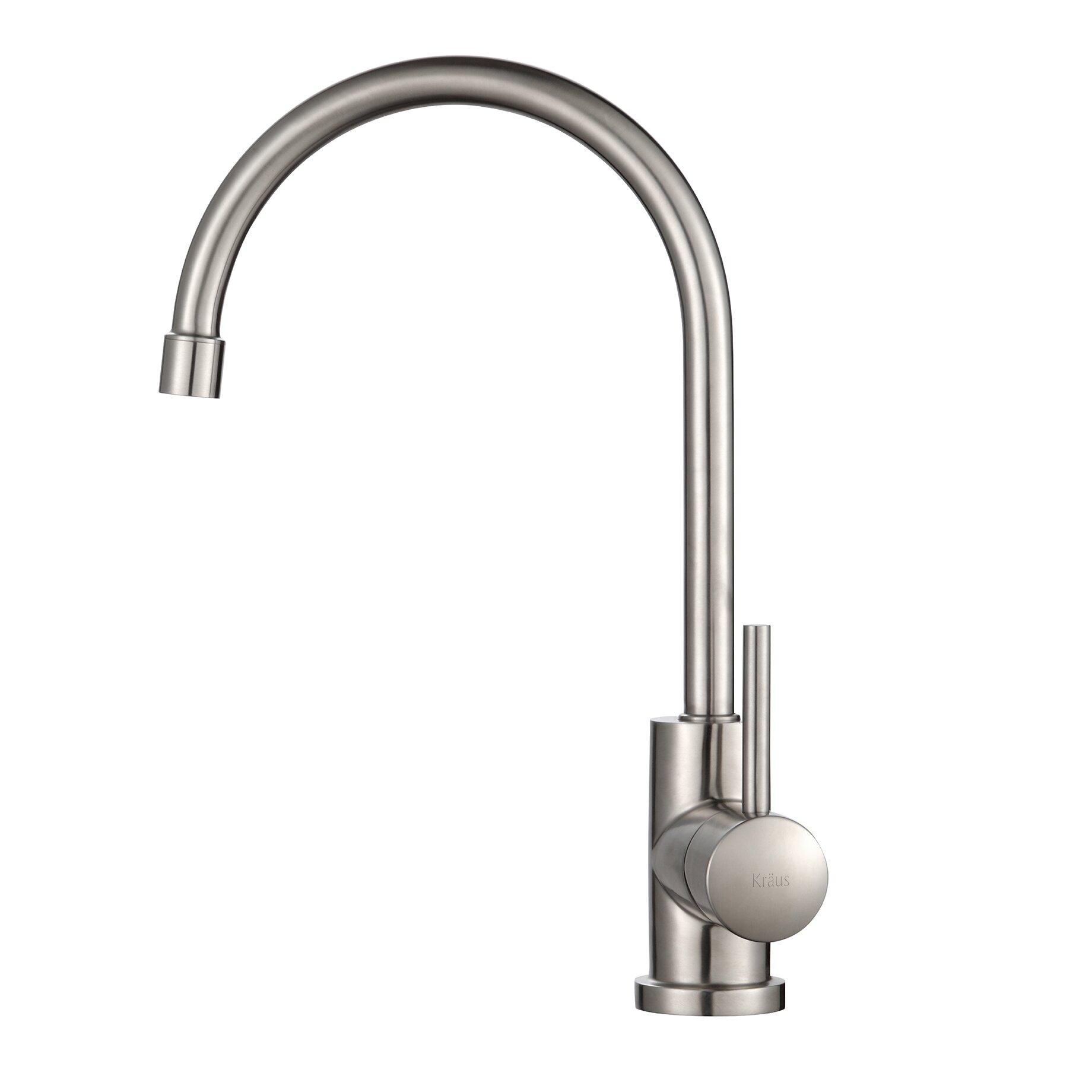 Kraus Faucets Reviews : Kraus One Handle Single Hole Kitchen Faucet & Reviews Wayfair
