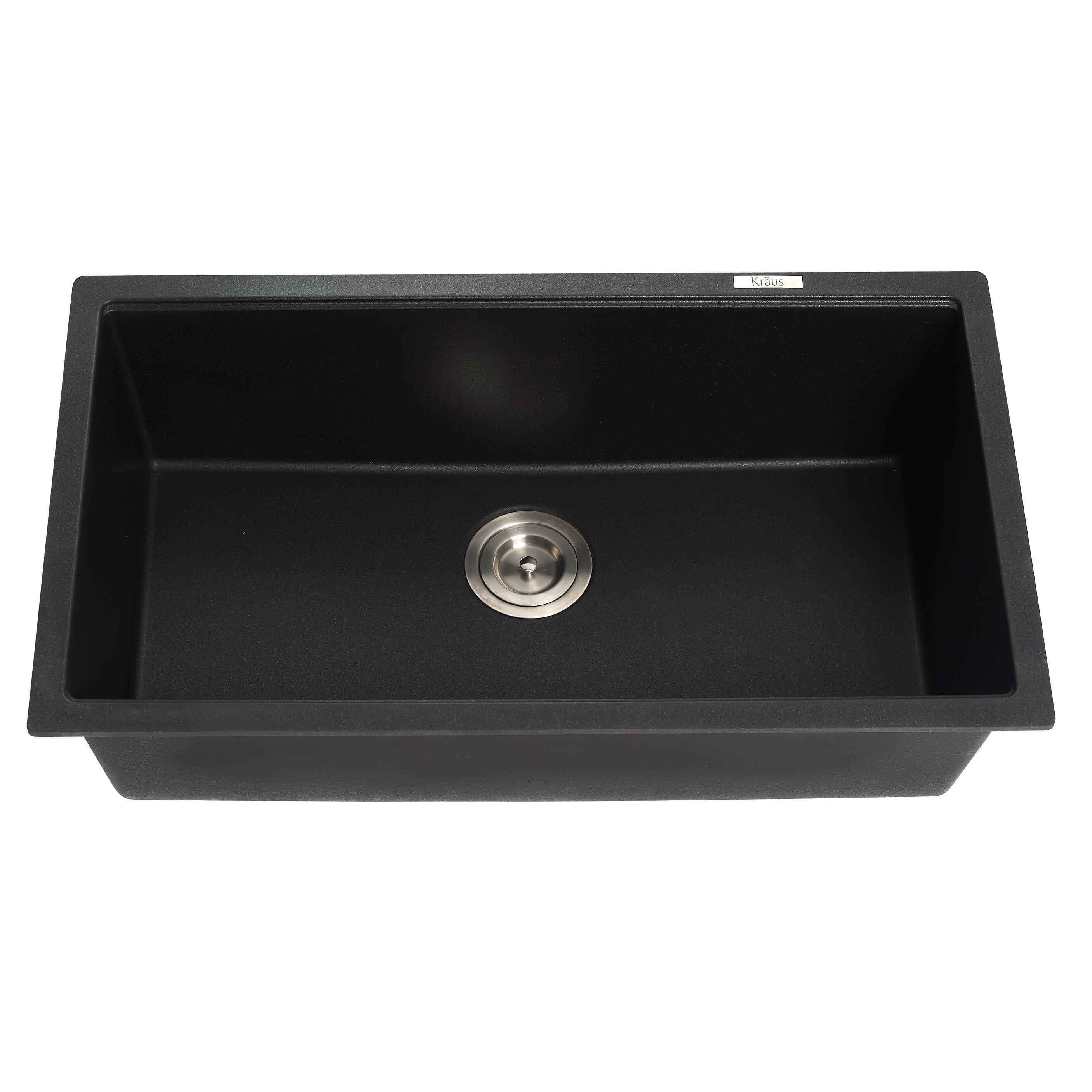 Kraus 31 X Undermount Single Bowl Granite Kitchen Sink Reviews Wayfair