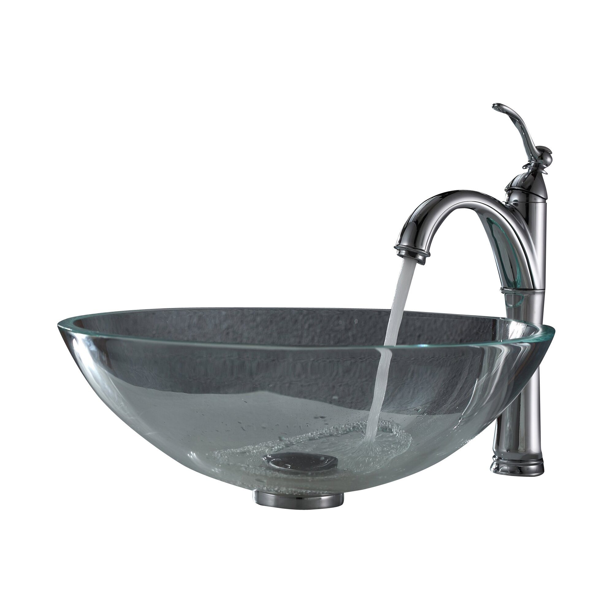 ... Vessel Sink with Pop Up Drain & Mounting Ring & Reviews Wayfair.ca
