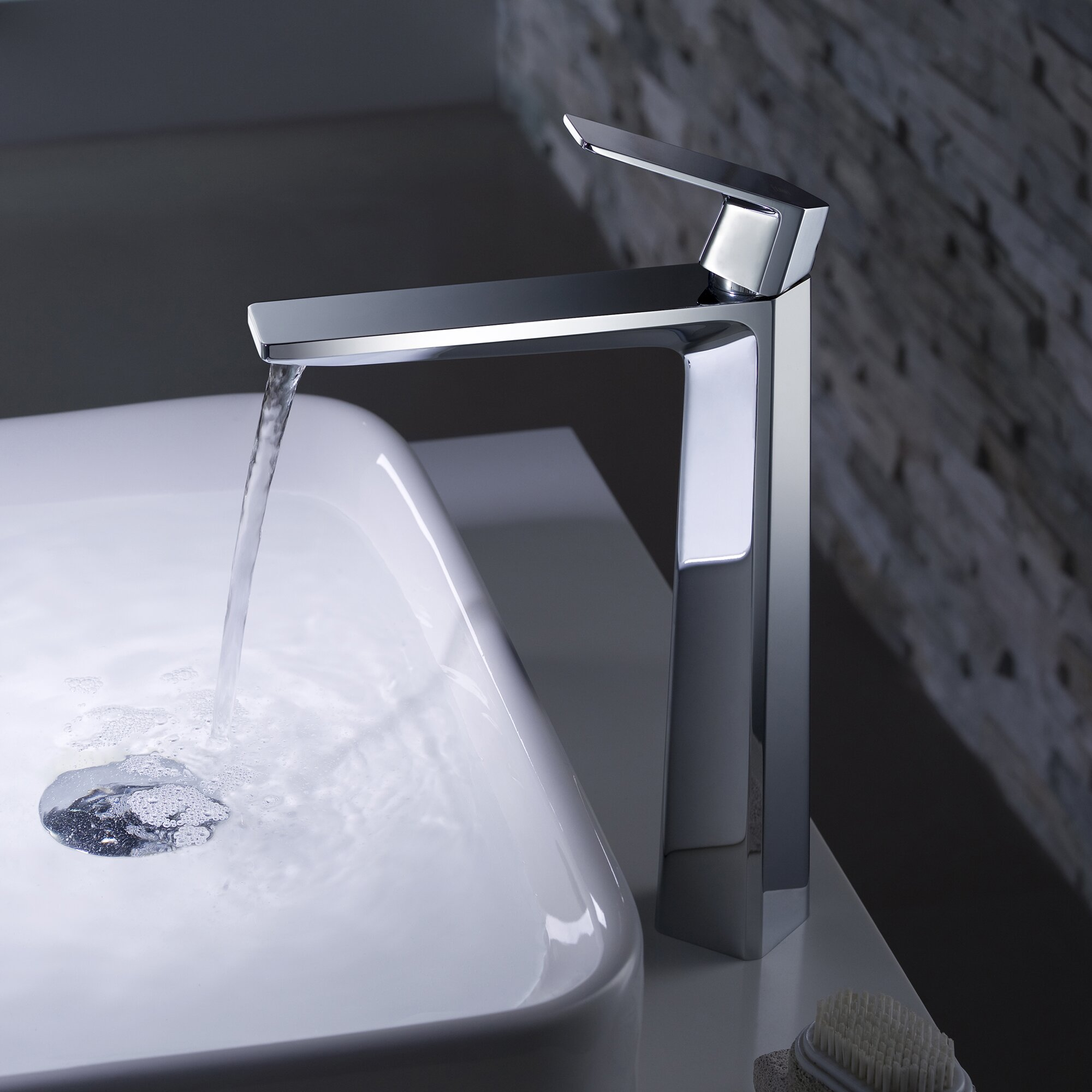 Kraus single lever vessel bathroom faucet with pop up - Kraus shower faucets ...