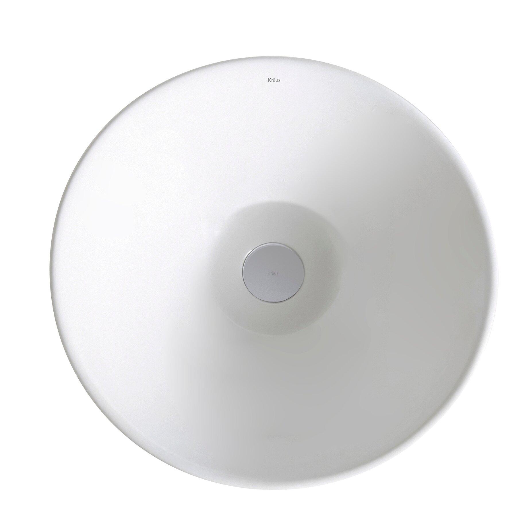Kraus Elavo? Ceramic Round Vessel Bathroom Sink & Reviews Wayfair