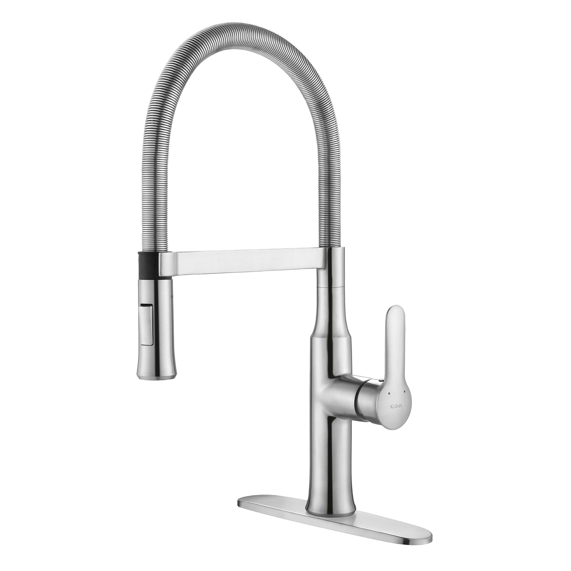 ... Single Lever Flex Commercial Style Kitchen Faucet & Reviews Wayfair