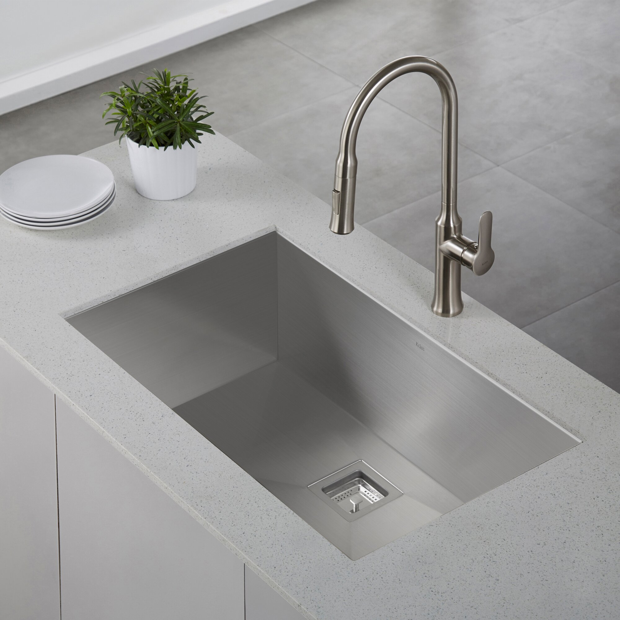 Zero Radius Kitchen Sink