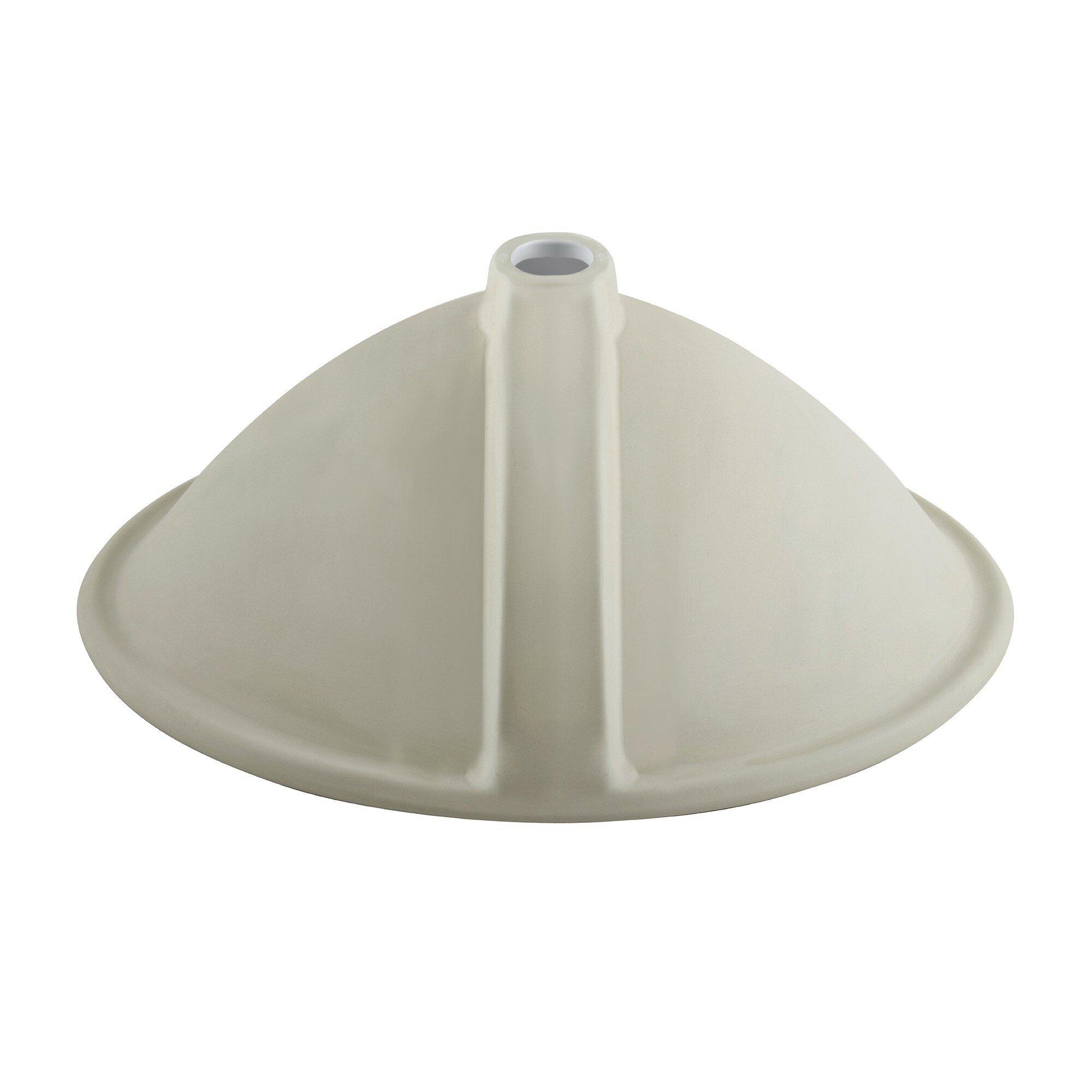 kraus elavo ceramic oval undermount bathroom sink with