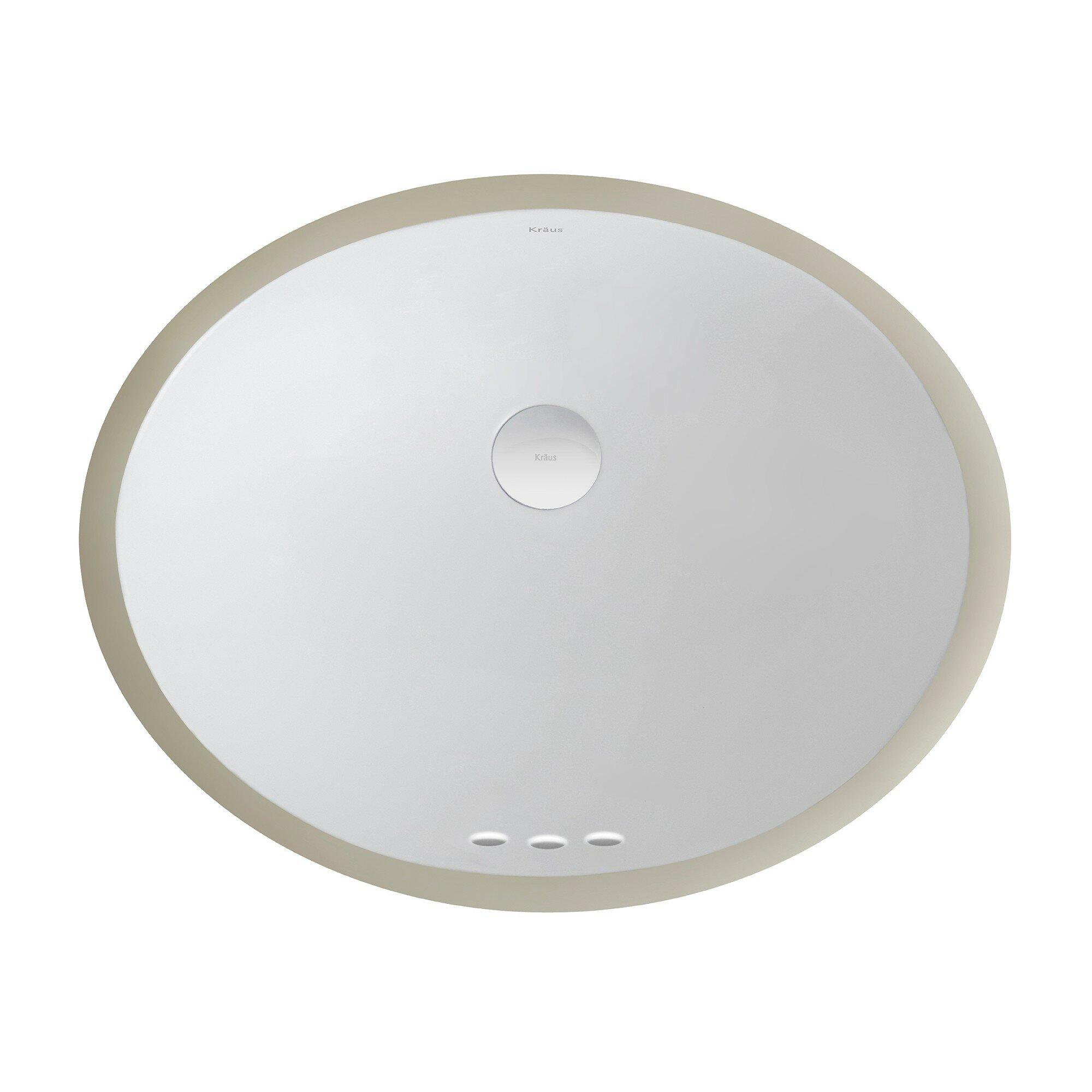 Kraus Elavo? Ceramic Oval Undermount Bathroom Sink with Overflow ...