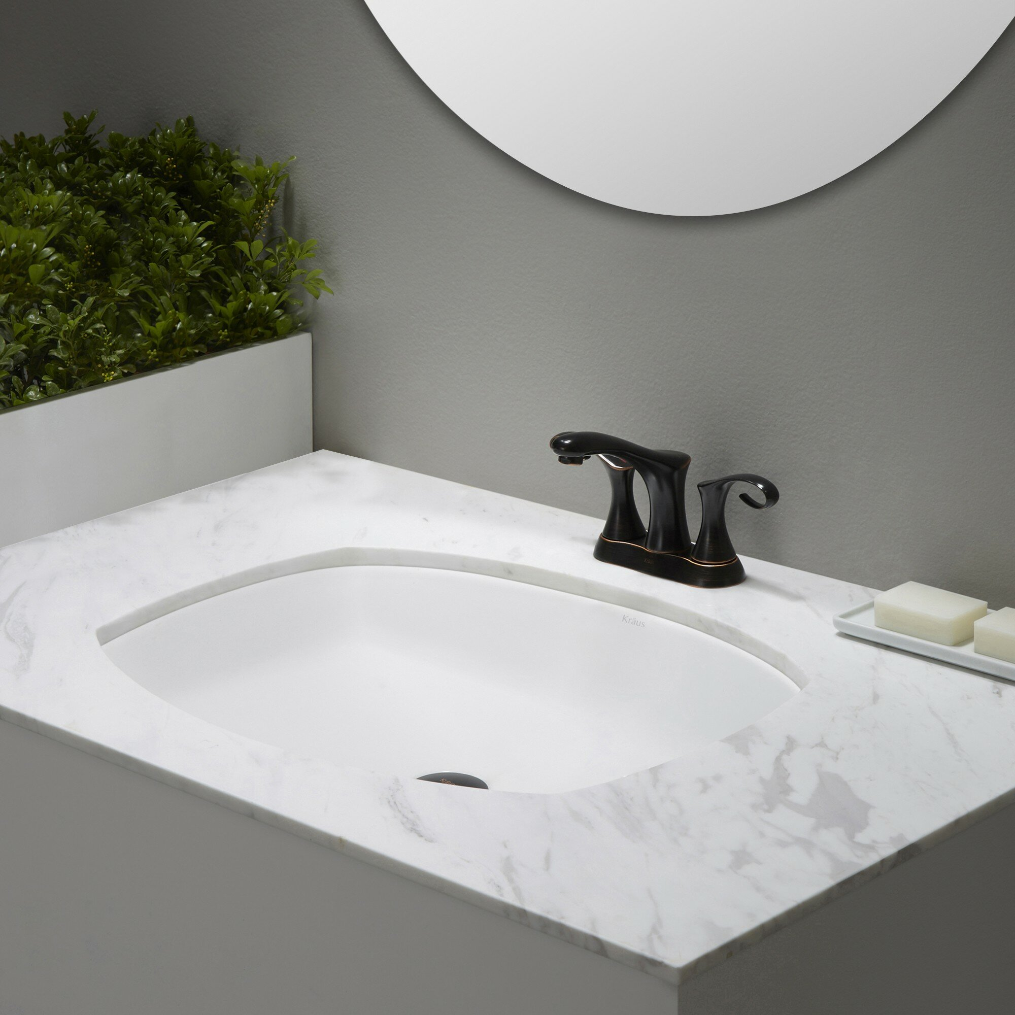 Rectangular Bathroom Sinks Undermount : ... ? Ceramic Flared Rectangular Undermount Bathroom Sink with Overflow
