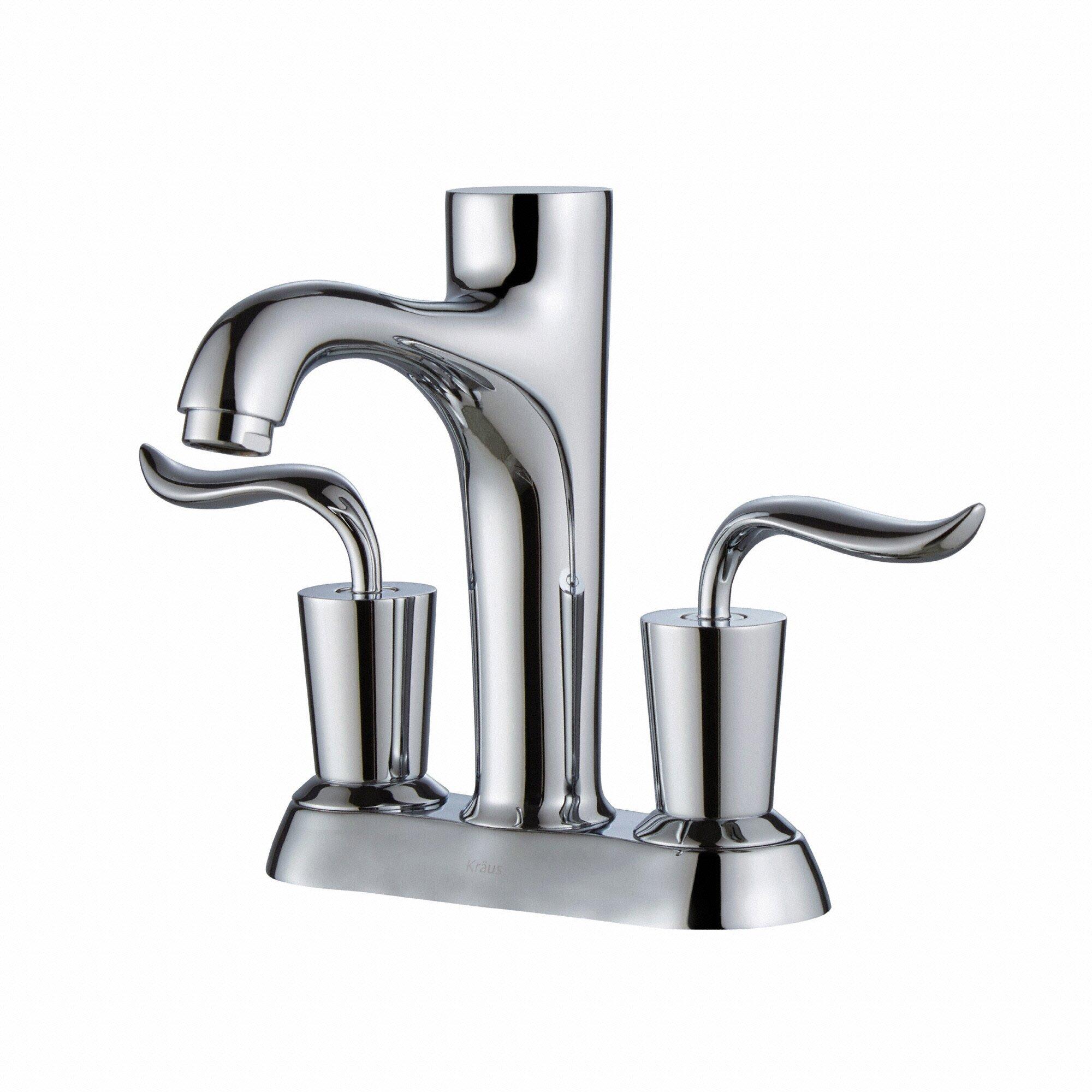 Kraus Coda Double Handle Centerset Bathroom Faucet Reviews Wayfair