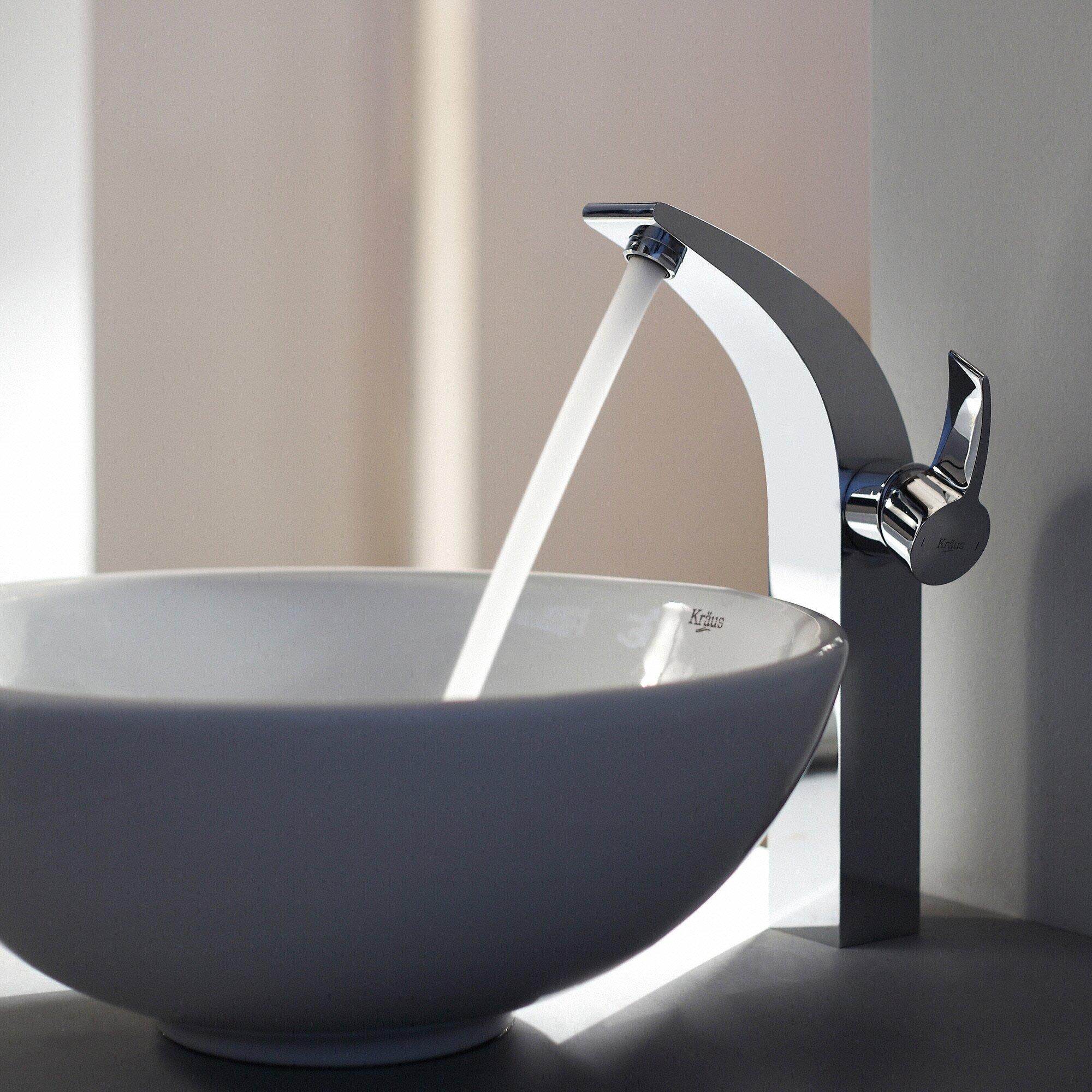 Bathroom Sink Round : Kraus Ceramic Round Vessel Bathroom Sink & Reviews Wayfair