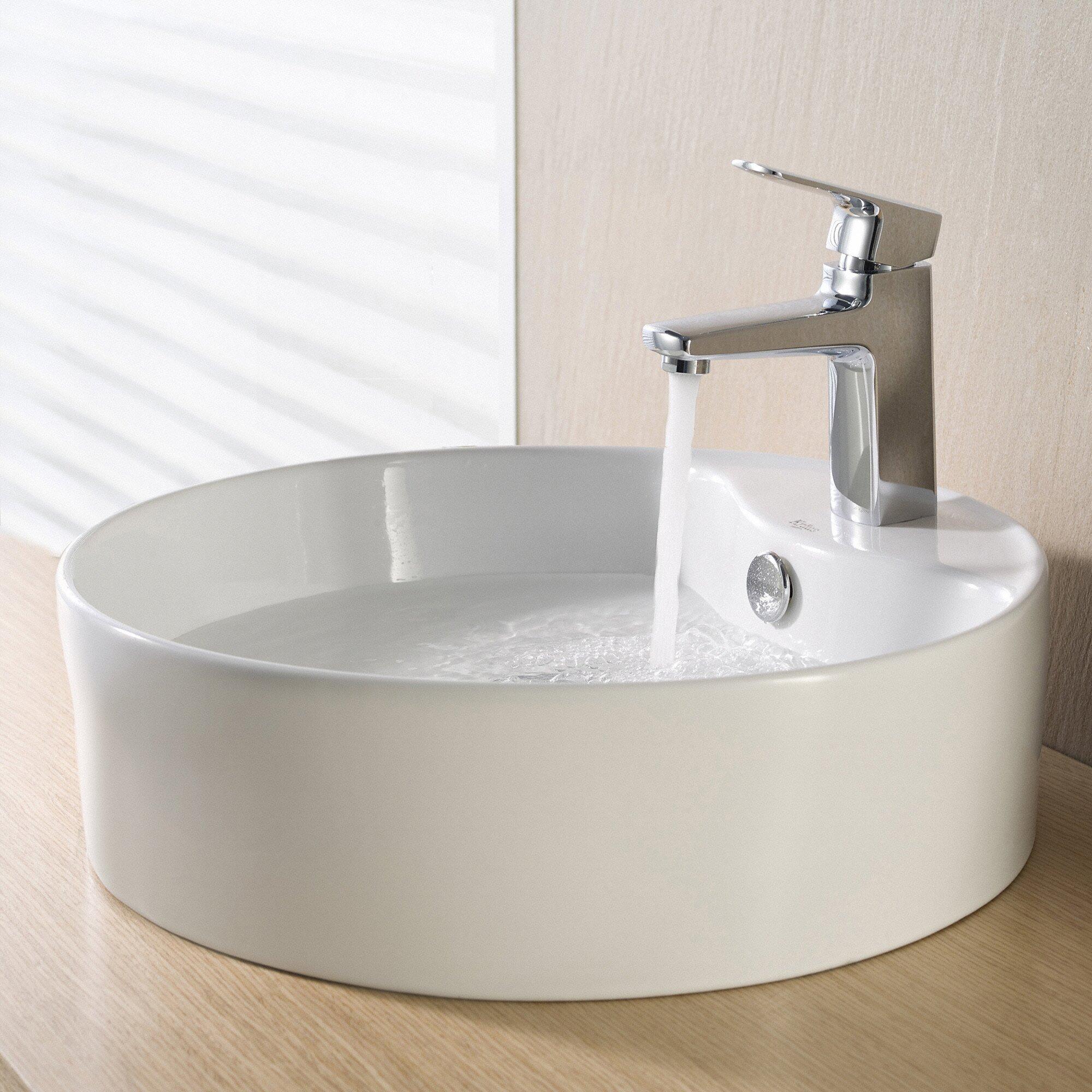Kraus Ceramic Round Sink & Reviews Wayfair