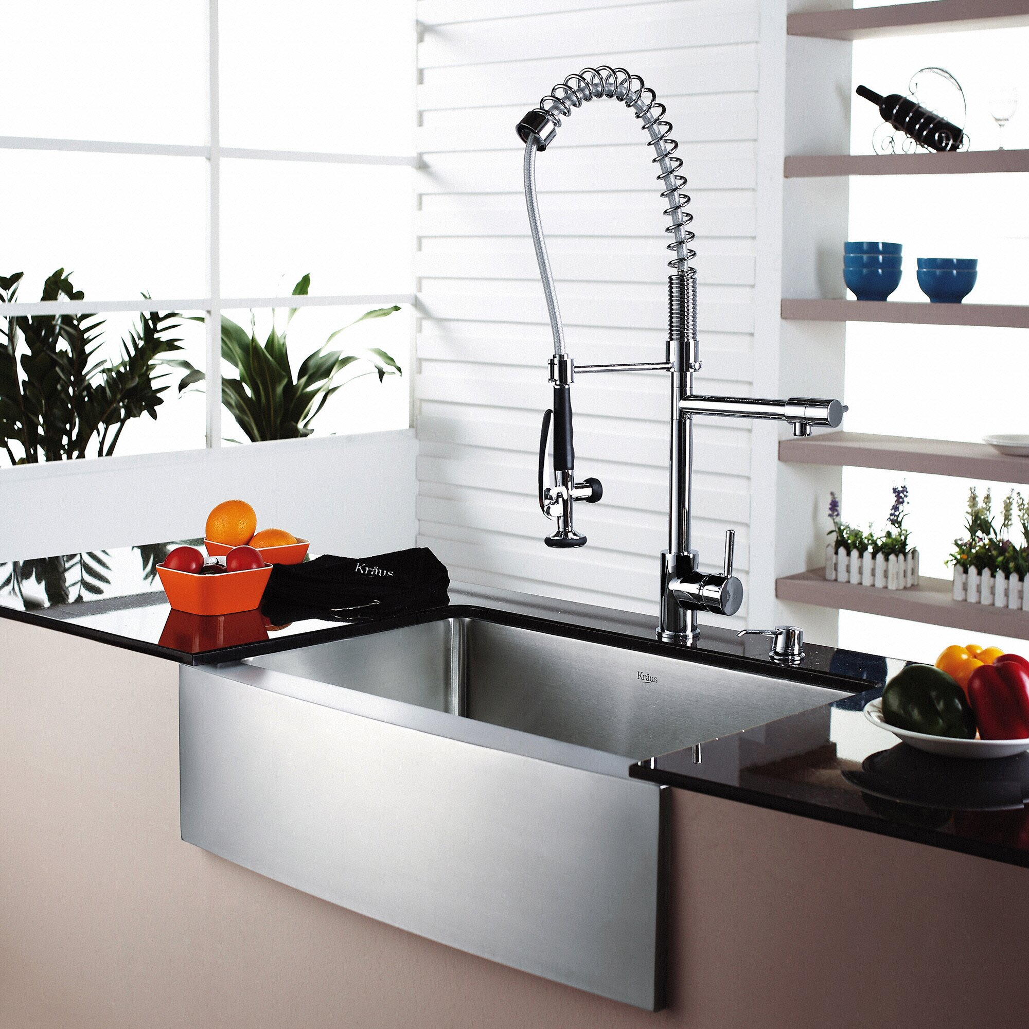 "Kraus 29"" x 20"" Farmhouse Kitchen Sink & Reviews"