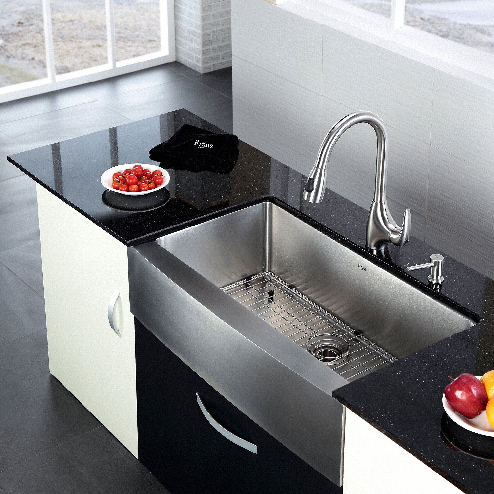 "Kitchen Sink Kraus: Kraus 35.88"" X 20.75"" Farmhouse Kitchen Sink & Reviews"