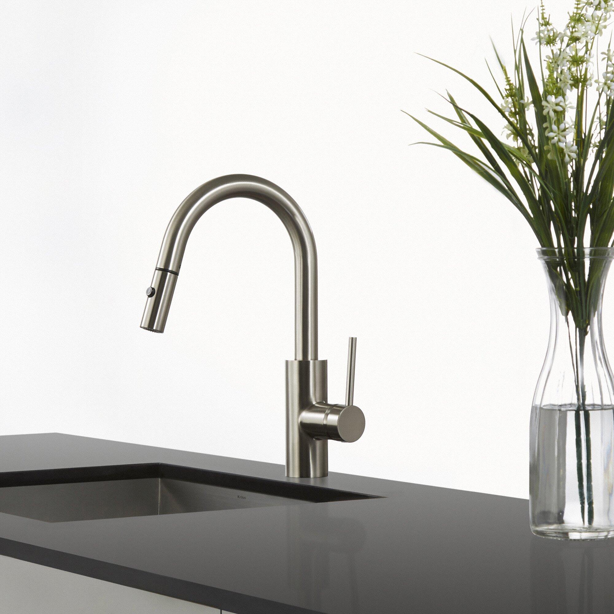 kraus mateo single lever pull down kitchen faucet kraus mateo single lever pull down kitchen faucet