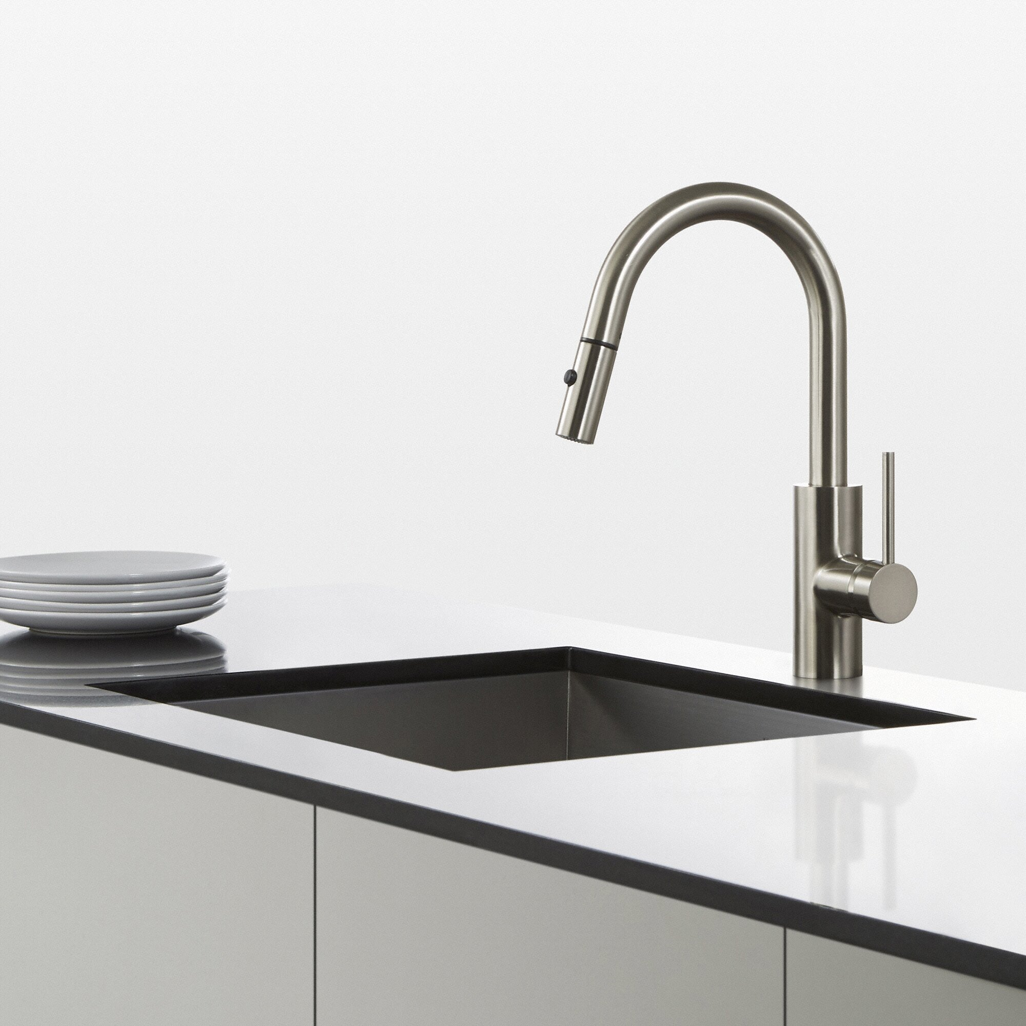 Kraus Mateo Single Lever Pull Down Kitchen Faucet Reviews Wayfair