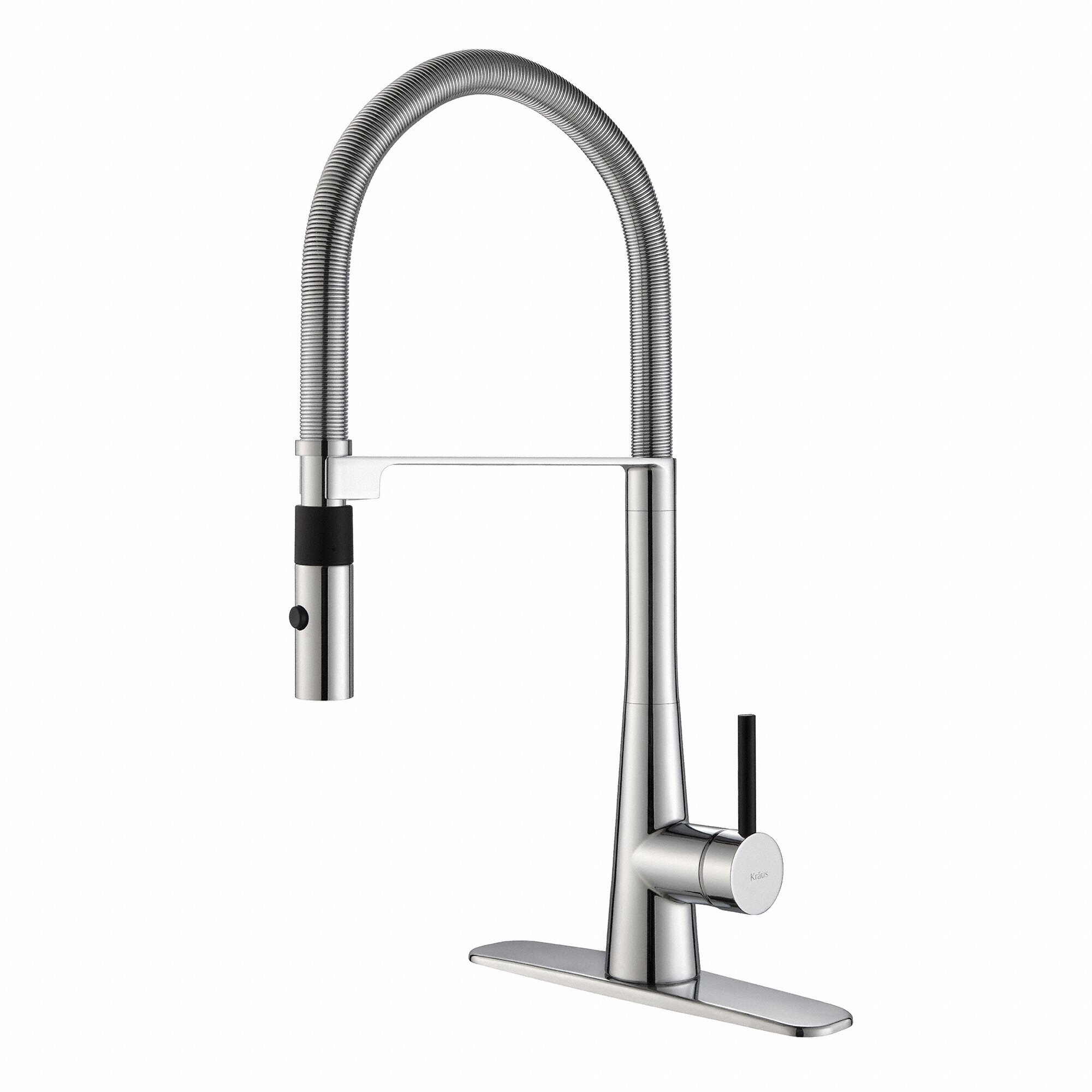 Kraus Faucets Reviews : Kraus Crespo? Single Lever Commercial Style Kitchen Faucet with Flex ...