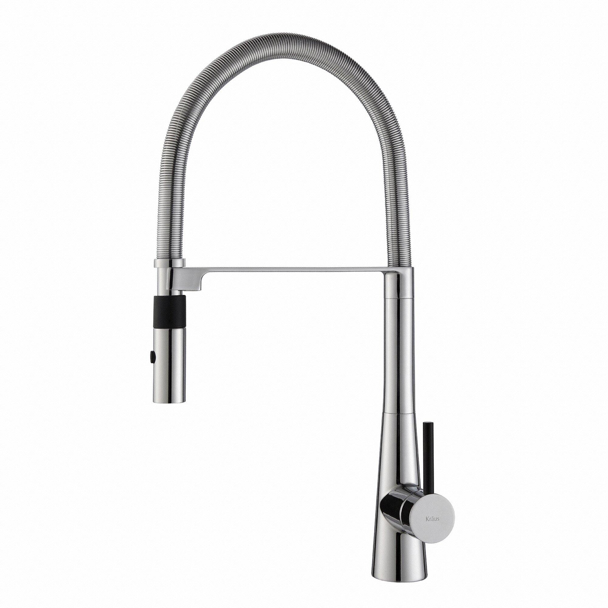 Kraus Crespo Single Lever Commercial Style Kitchen Faucet With Flex Hose Reviews