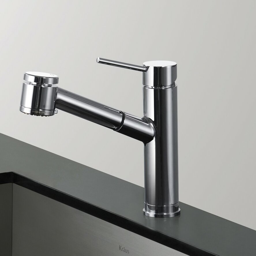 Kraus Single Lever Pull Out Kitchen Faucet Reviews