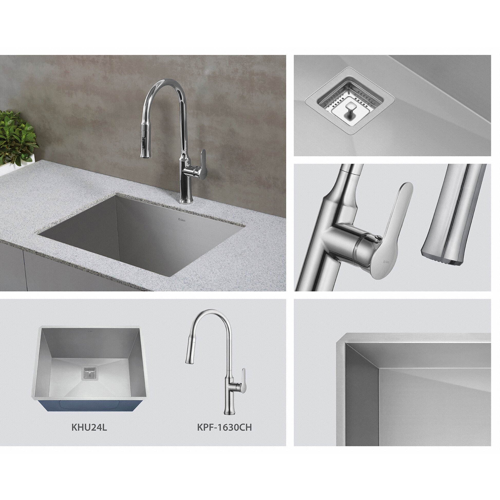 Undermount Stainless Steel Utility Sink : ... Undermount Single Bowl Stainless Steel Laundry and Utility Sink by