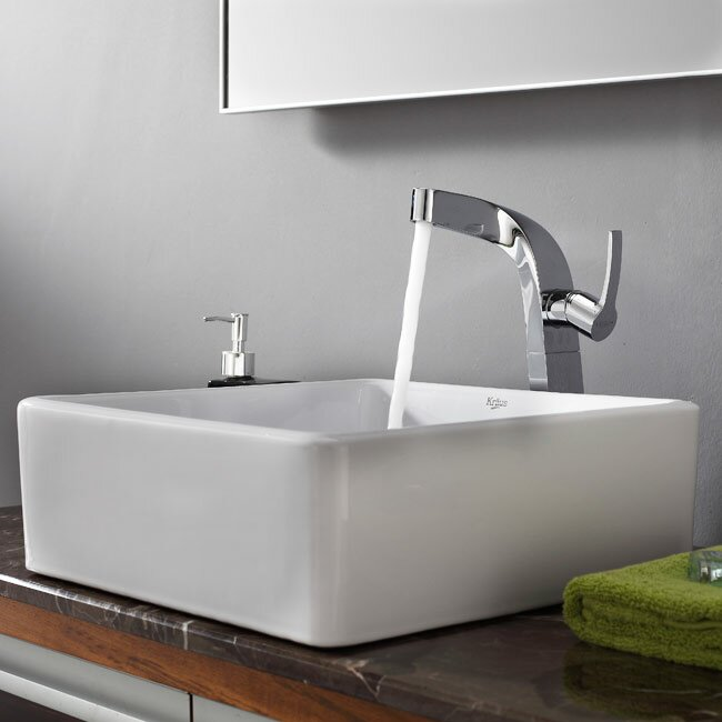 Kraus Bathroom Sinks : Kraus Bathroom Combos Single Hole Waterfall Typhon Faucet and Bathroom ...