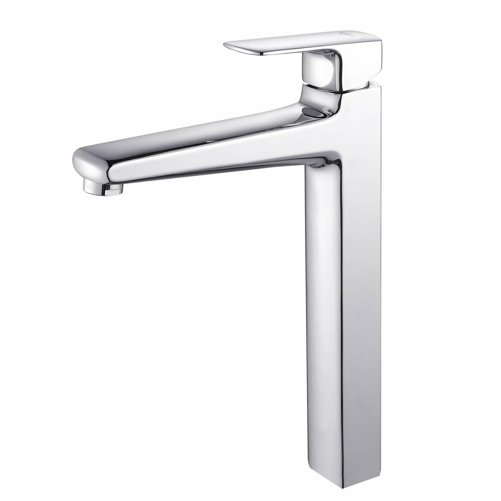 Kraus virtus square ceramic bathroom sink with faucet - Kraus shower faucets ...