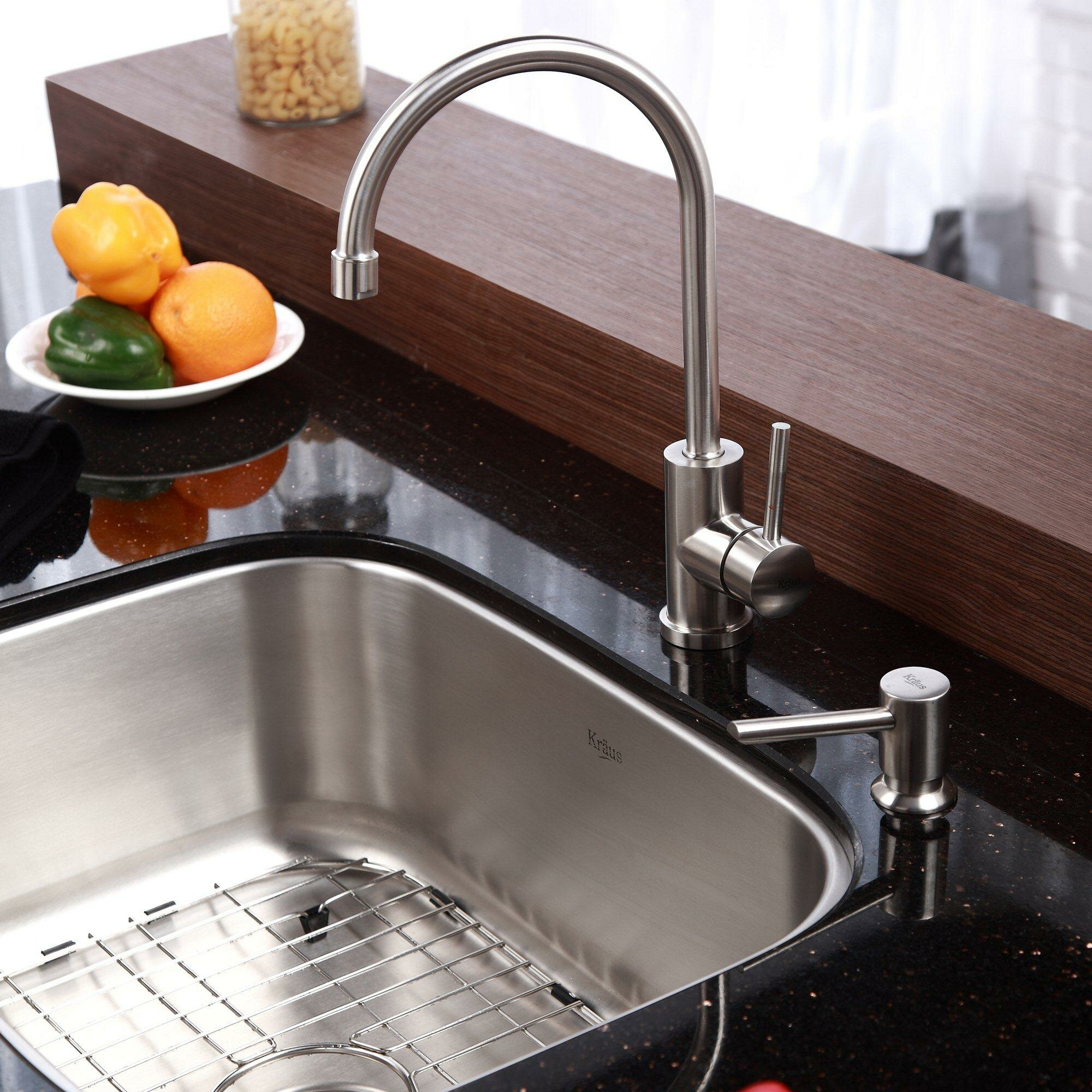 "Kitchen Sink Kraus: Kraus Stainless Steel 23"" X 17.6"" Undermount Single Bowl"
