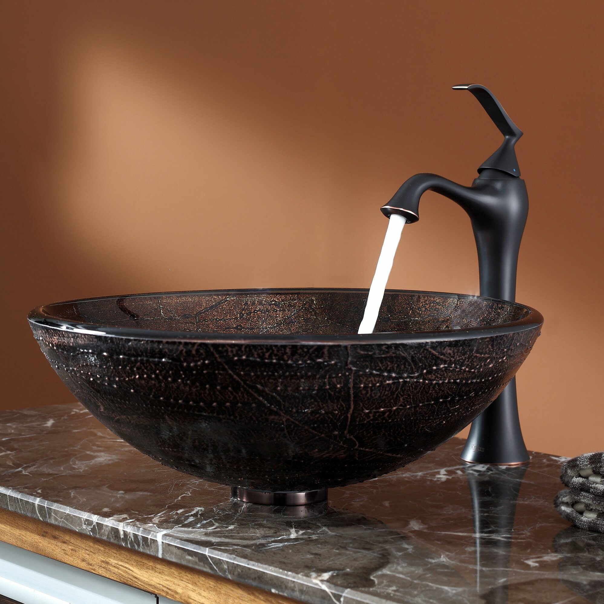 ... Illusion Glass Vessel Sink and Ventus Faucet & Reviews Wayfair